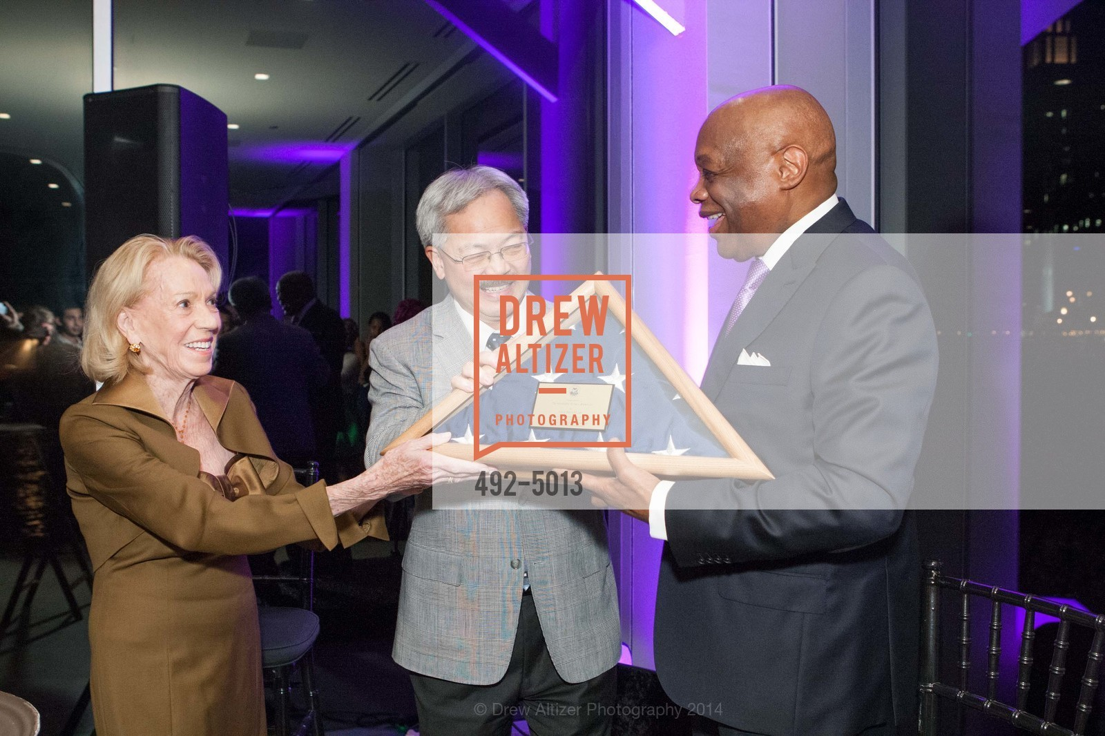Charlotte Shultz, Mayor Ed Lee, Willie Brown, Photo #492-5013