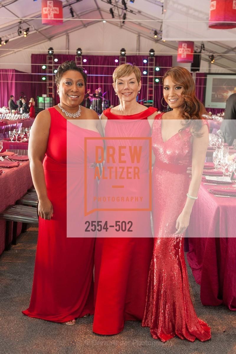 Gwyneth Borden, Paula Downey, Lillian Phan, 2014 RED CROSS Gala Honoring Paula Downey as the American Red Cross Bay Area Chapter Humanitarian CEO of the Year, US. Treasure Island (The Great Lawn), April 5th, 2014