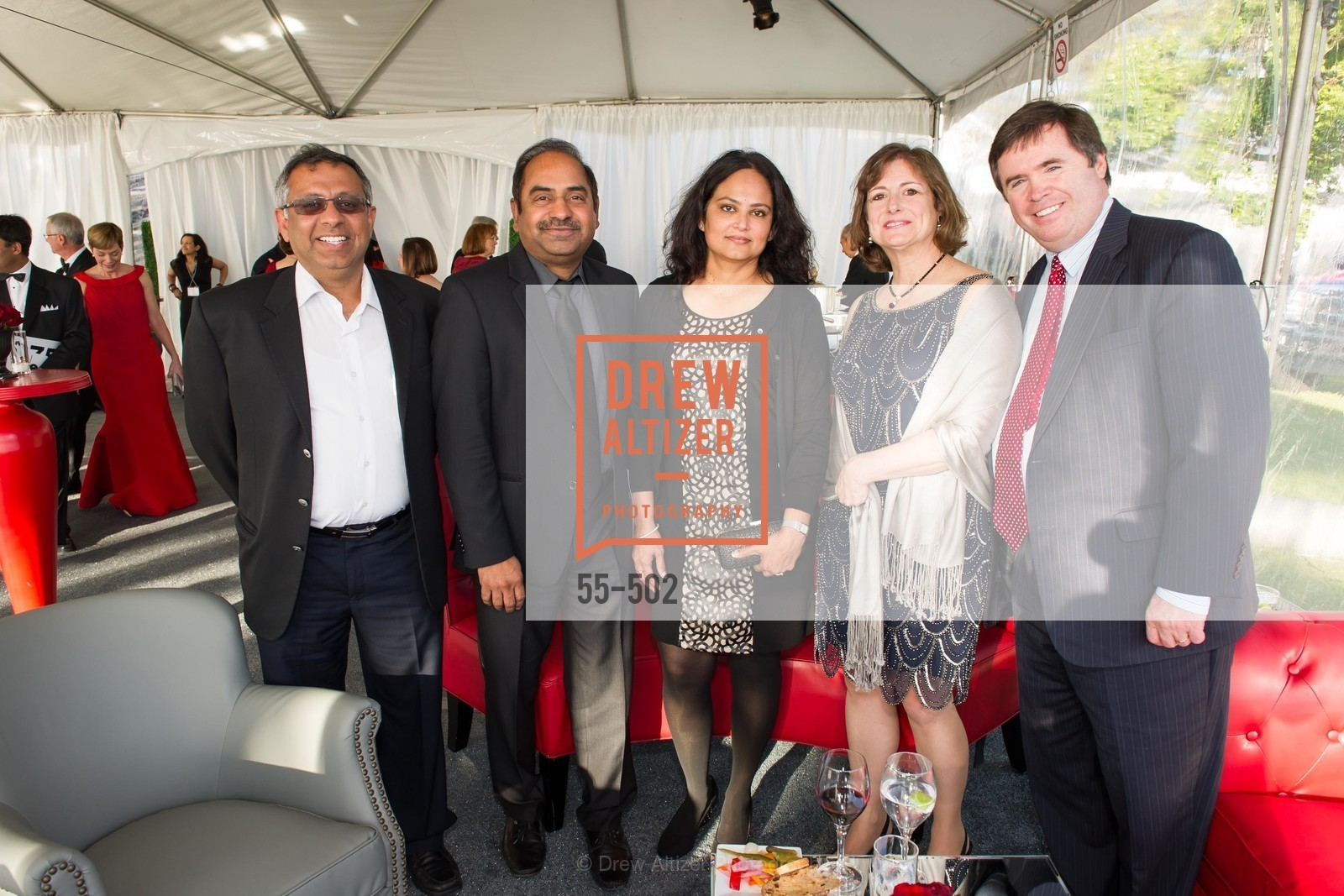 Sanjeev Kumar, Sagar Anisingaraju, Latha Anisingaraju, Michelle Hodsdon, Philip Hodsdon, 2014 RED CROSS Gala Honoring Paula Downey as the American Red Cross Bay Area Chapter Humanitarian CEO of the Year, US. Treasure Island (The Great Lawn), April 5th, 2014,Drew Altizer, Drew Altizer Photography, full-service agency, private events, San Francisco photographer, photographer california