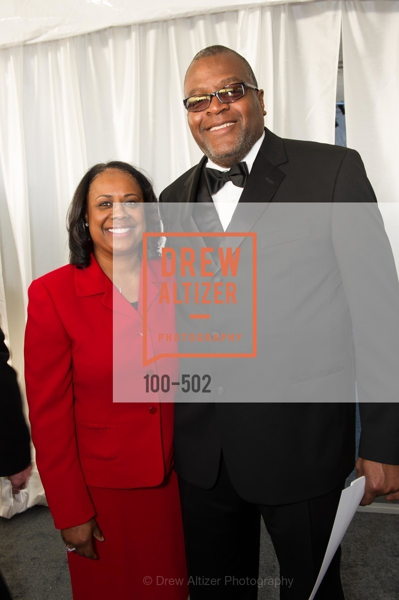 Janae Hemphill, Dennis Hemphill, 2014 RED CROSS Gala Honoring Paula Downey as the American Red Cross Bay Area Chapter Humanitarian CEO of the Year, US. Treasure Island (The Great Lawn), April 5th, 2014