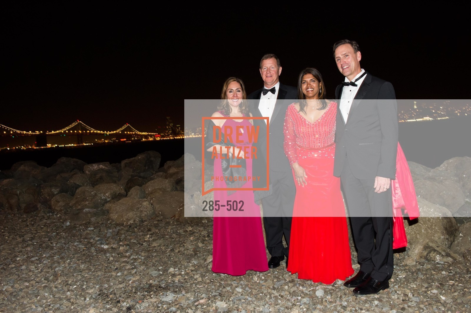 Naomi Chavez Peters, Christopher Peters, Manjula Noone, Patrick Noone, 2014 RED CROSS Gala Honoring Paula Downey as the American Red Cross Bay Area Chapter Humanitarian CEO of the Year, US. Treasure Island (The Great Lawn), April 5th, 2014