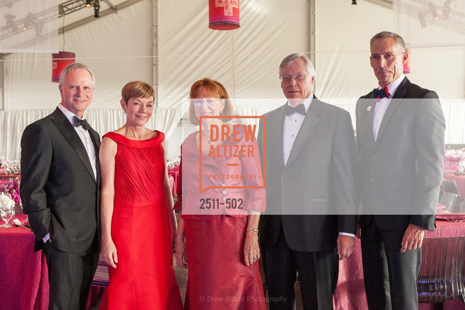Michael Downey, Paula Downey, Mary Cranston, Roger van Craeynest, Mark Cloutier, 2014 RED CROSS Gala Honoring Paula Downey as the American Red Cross Bay Area Chapter Humanitarian CEO of the Year, US. Treasure Island (The Great Lawn), April 5th, 2014,Drew Altizer, Drew Altizer Photography, full-service agency, private events, San Francisco photographer, photographer california