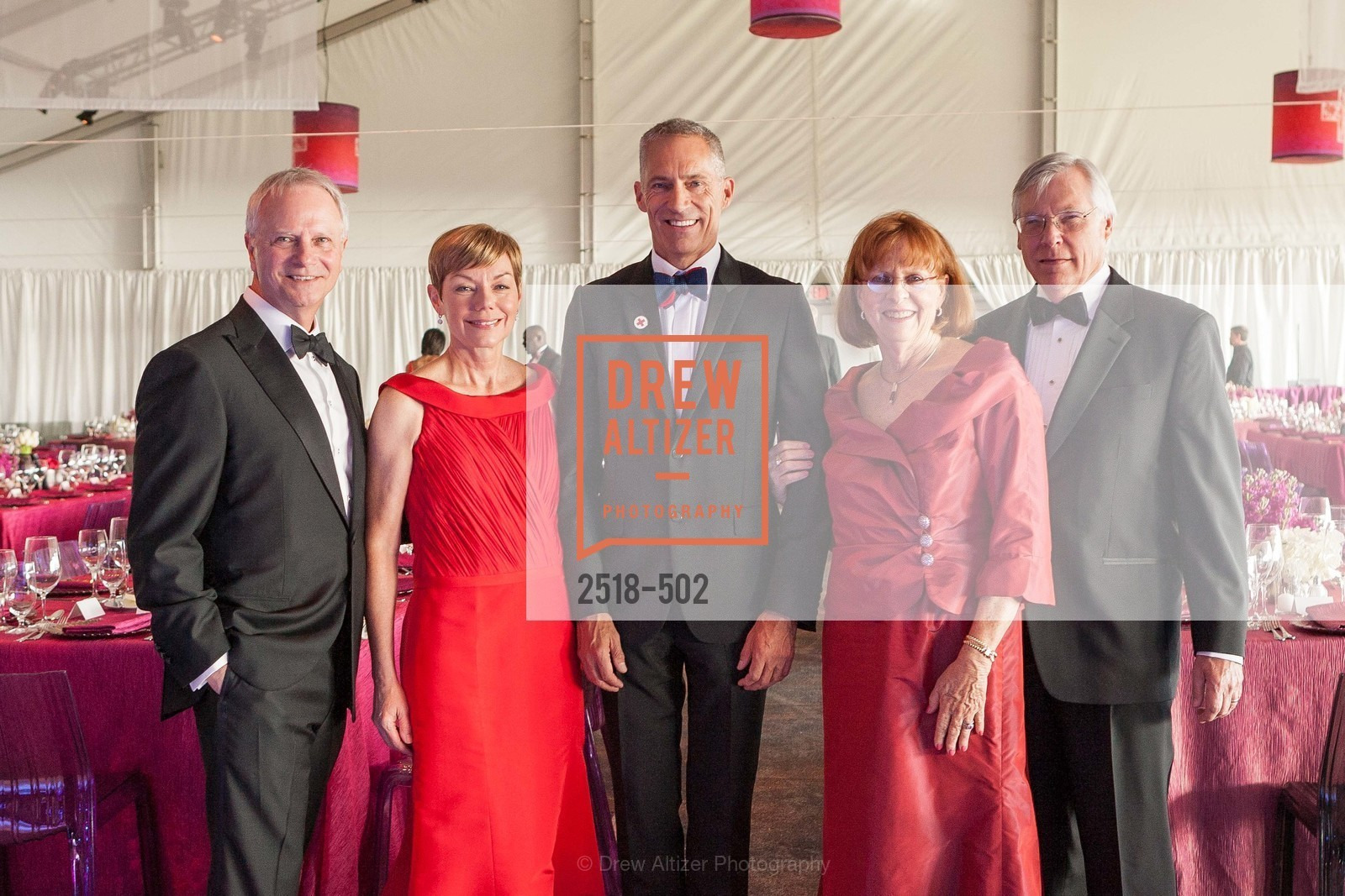 Michael Downey, Paula Downey, Mark Cloutier, Mary Cranston, Roger van Craeynest, 2014 RED CROSS Gala Honoring Paula Downey as the American Red Cross Bay Area Chapter Humanitarian CEO of the Year, US. Treasure Island (The Great Lawn), April 5th, 2014,Drew Altizer, Drew Altizer Photography, full-service agency, private events, San Francisco photographer, photographer california
