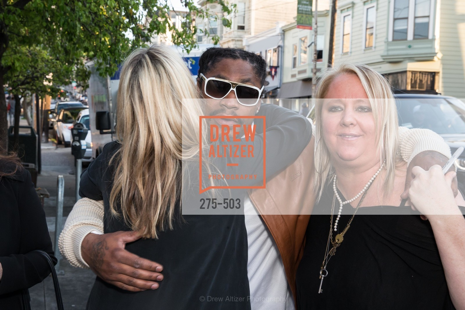 Hilary Newsom Callan, Marshawn Lynch, Lori Puccinelli Stern, NFL CELEBRITY Bartending Event, US. US, April 7th, 2014,Drew Altizer, Drew Altizer Photography, full-service agency, private events, San Francisco photographer, photographer california