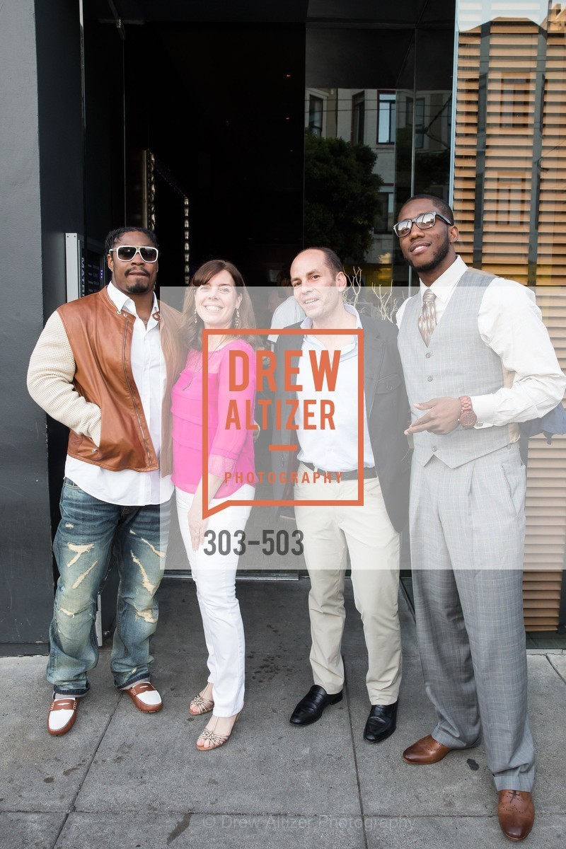 Marshawn Lynch, Lynne Roberts, Greg Roberts, Josh Johnson, NFL CELEBRITY Bartending Event, US. US, April 7th, 2014,Drew Altizer, Drew Altizer Photography, full-service event agency, private events, San Francisco photographer, photographer California