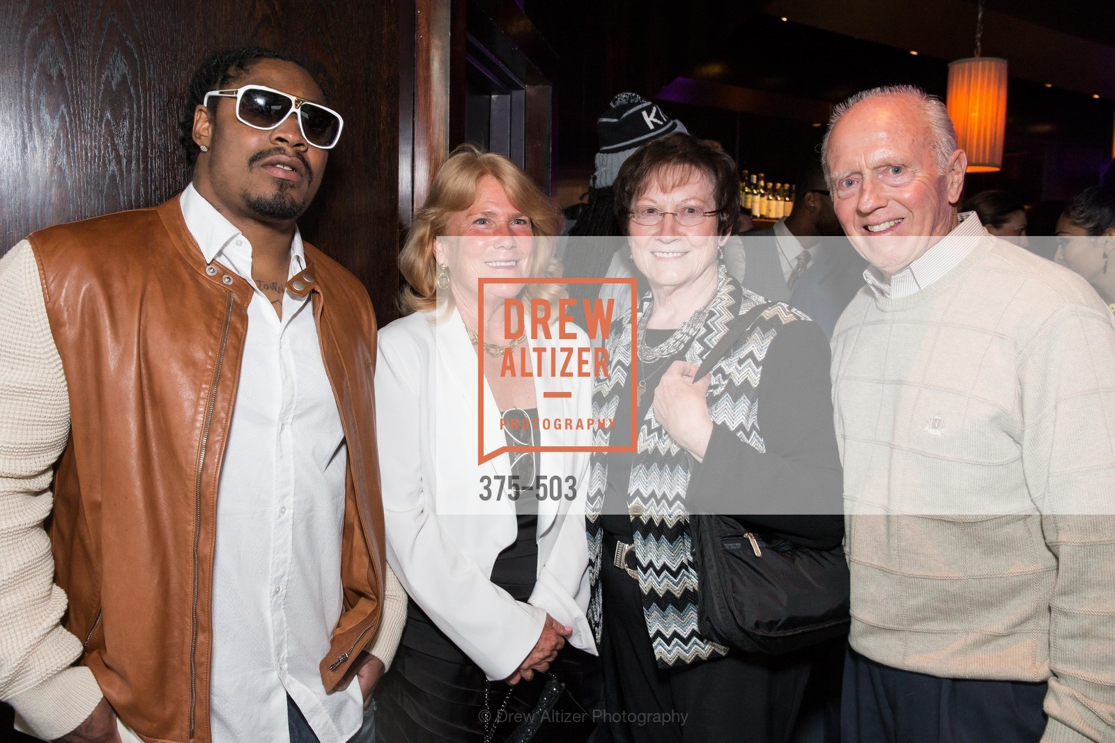 Marshawn Lynch, Mary Hendrickson, John Korgman, NFL CELEBRITY Bartending Event, US. US, April 7th, 2014,Drew Altizer, Drew Altizer Photography, full-service agency, private events, San Francisco photographer, photographer california