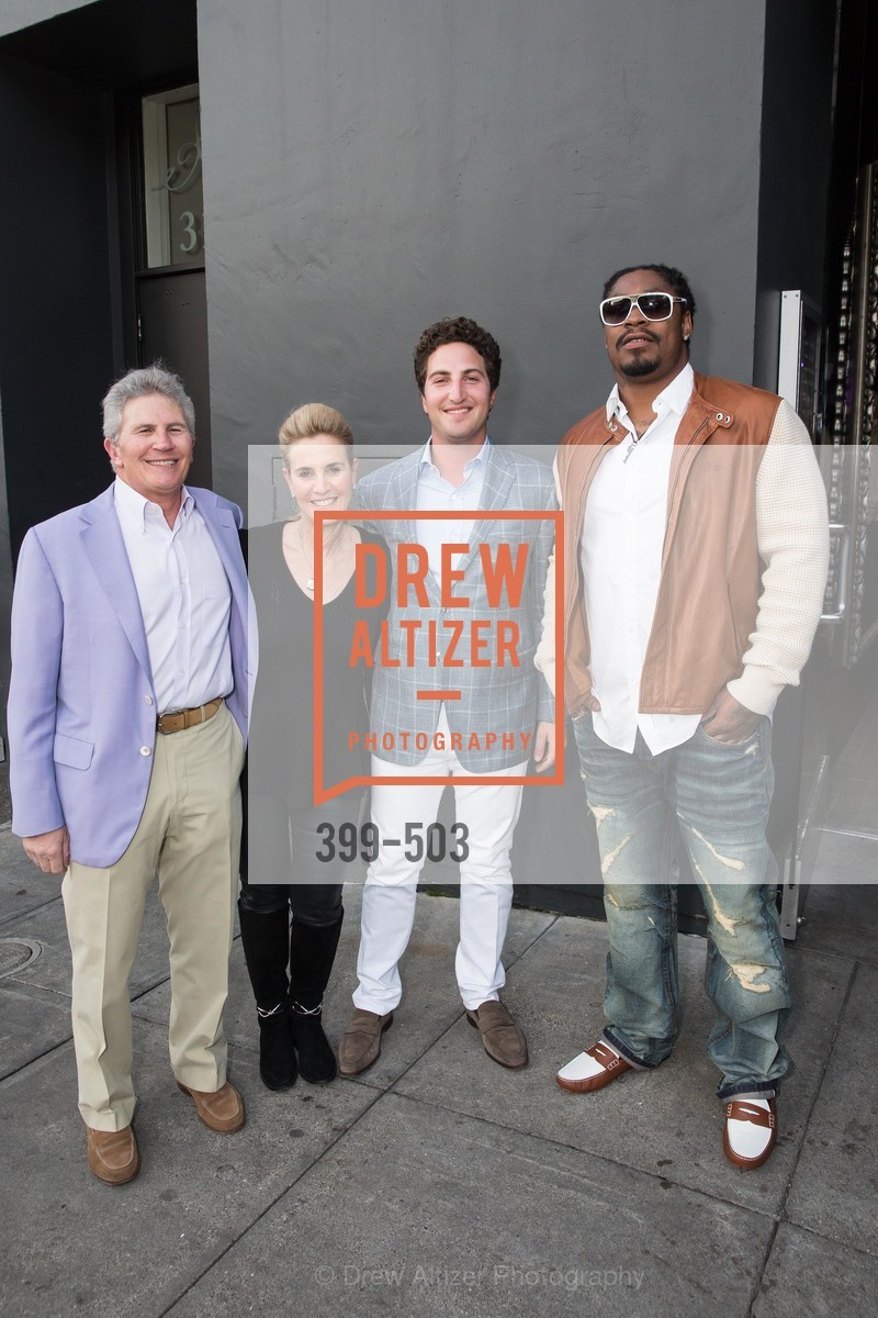 Doug Goldman, Lisa Goldman, Jason Goldman, Marshawn Lynch, NFL CELEBRITY Bartending Event, US. US, April 7th, 2014,Drew Altizer, Drew Altizer Photography, full-service agency, private events, San Francisco photographer, photographer california