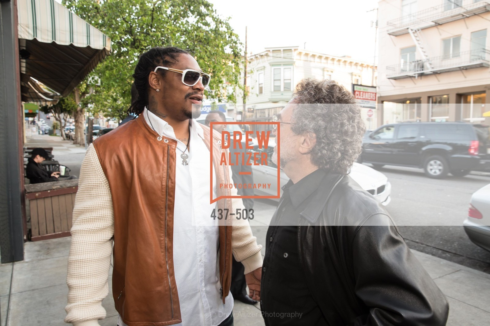 Marshawn Lynch, Gerry Schwartzbach, NFL CELEBRITY Bartending Event, US. US, April 7th, 2014,Drew Altizer, Drew Altizer Photography, full-service event agency, private events, San Francisco photographer, photographer California