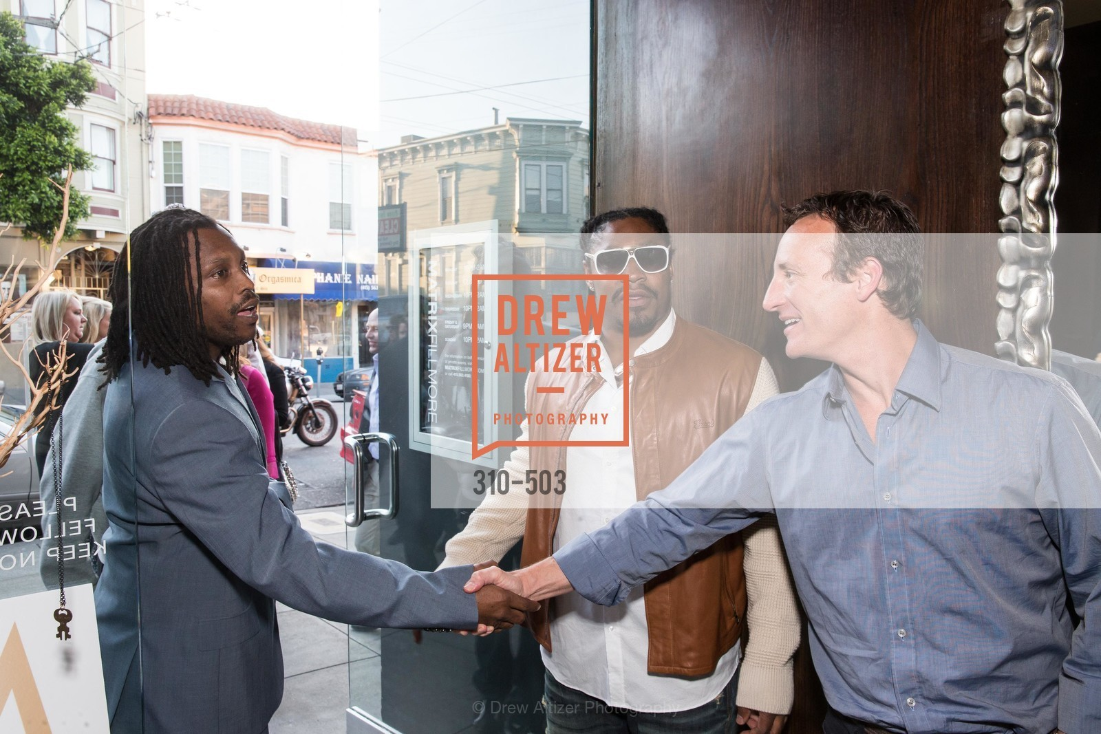 Marshawn Lynch, Todd Traina, NFL CELEBRITY Bartending Event, US. US, April 7th, 2014,Drew Altizer, Drew Altizer Photography, full-service agency, private events, San Francisco photographer, photographer california