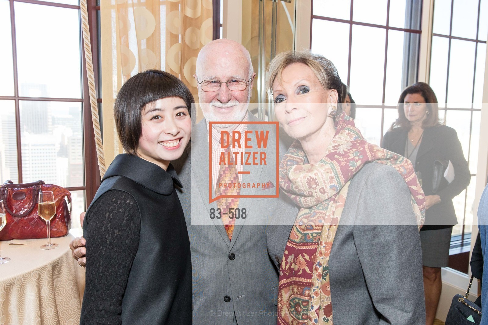 Yuka Uehara, George Lucas, Sallie Huntting, San Francisco Opera Guild Annual Meeting & Luncheon, The Westin St. Francis Union Square. 335 Powell St, November 10th, 2015