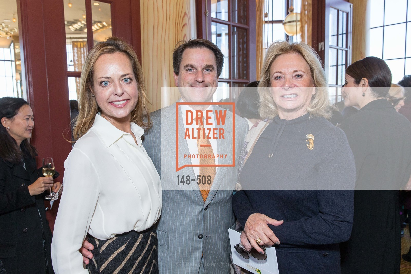 Charlot Malin, Gregory Malin, Sara Hills, San Francisco Opera Guild Annual Meeting & Luncheon, The Westin St. Francis Union Square. 335 Powell St, November 10th, 2015