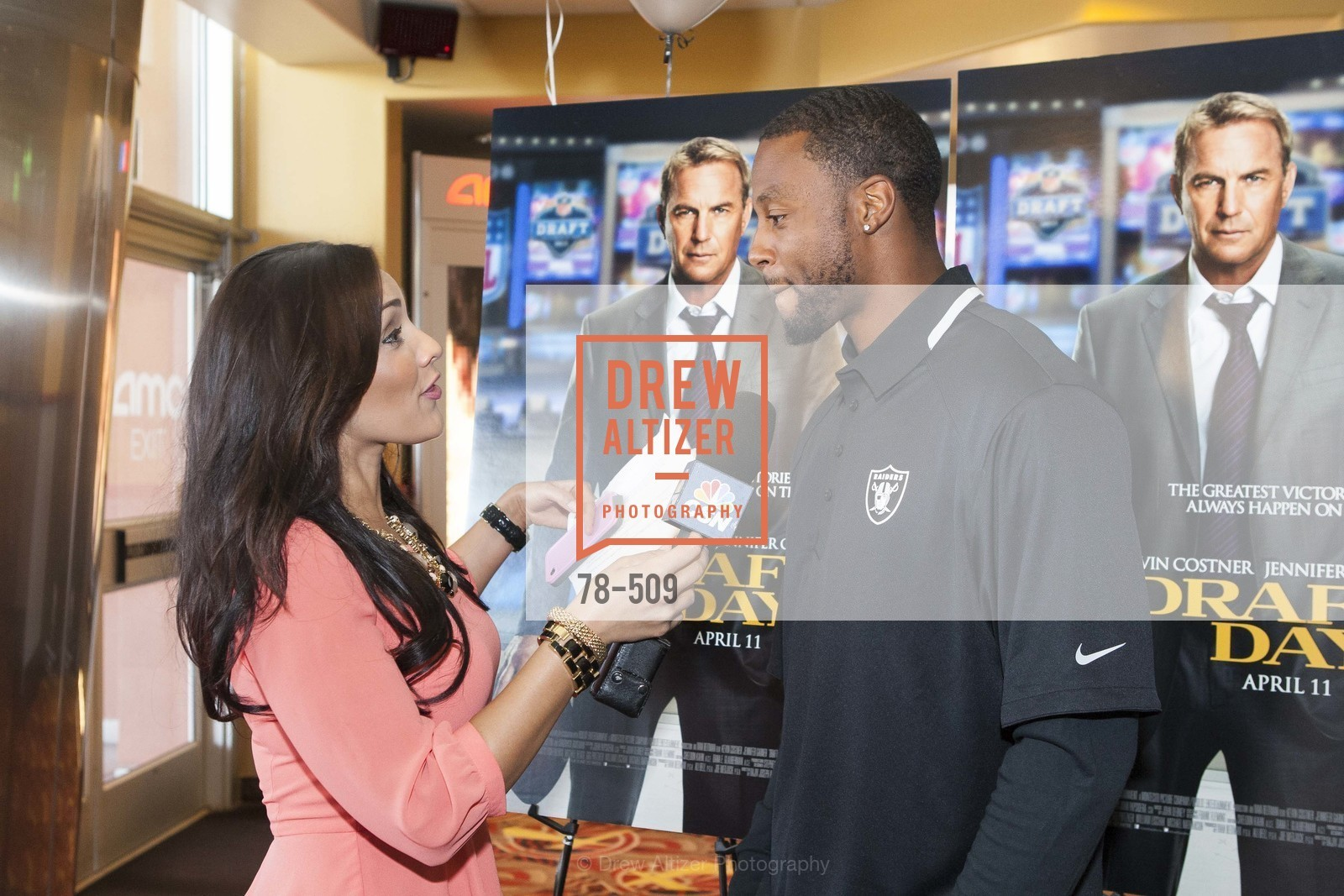 Taiwan Jones, SUMMIT ENTERTAINMENT Presents a Special Screening of DRAFT DAY with the Oakland Raiders, US. AMC 16 Shellmound, Emeryville, Ca, April 9th, 2014,Drew Altizer, Drew Altizer Photography, full-service event agency, private events, San Francisco photographer, photographer California