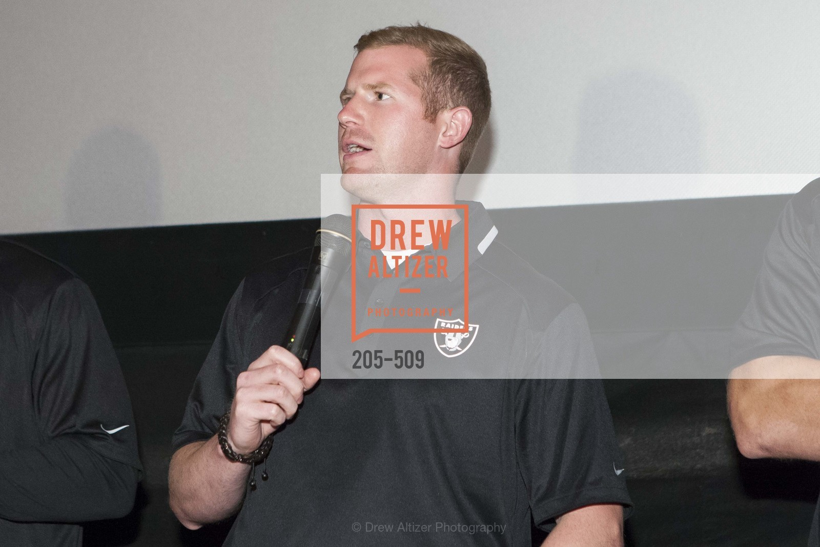 Matthew McGloin, SUMMIT ENTERTAINMENT Presents a Special Screening of DRAFT DAY with the Oakland Raiders, US. AMC 16 Shellmound, Emeryville, Ca, April 9th, 2014,Drew Altizer, Drew Altizer Photography, full-service event agency, private events, San Francisco photographer, photographer California