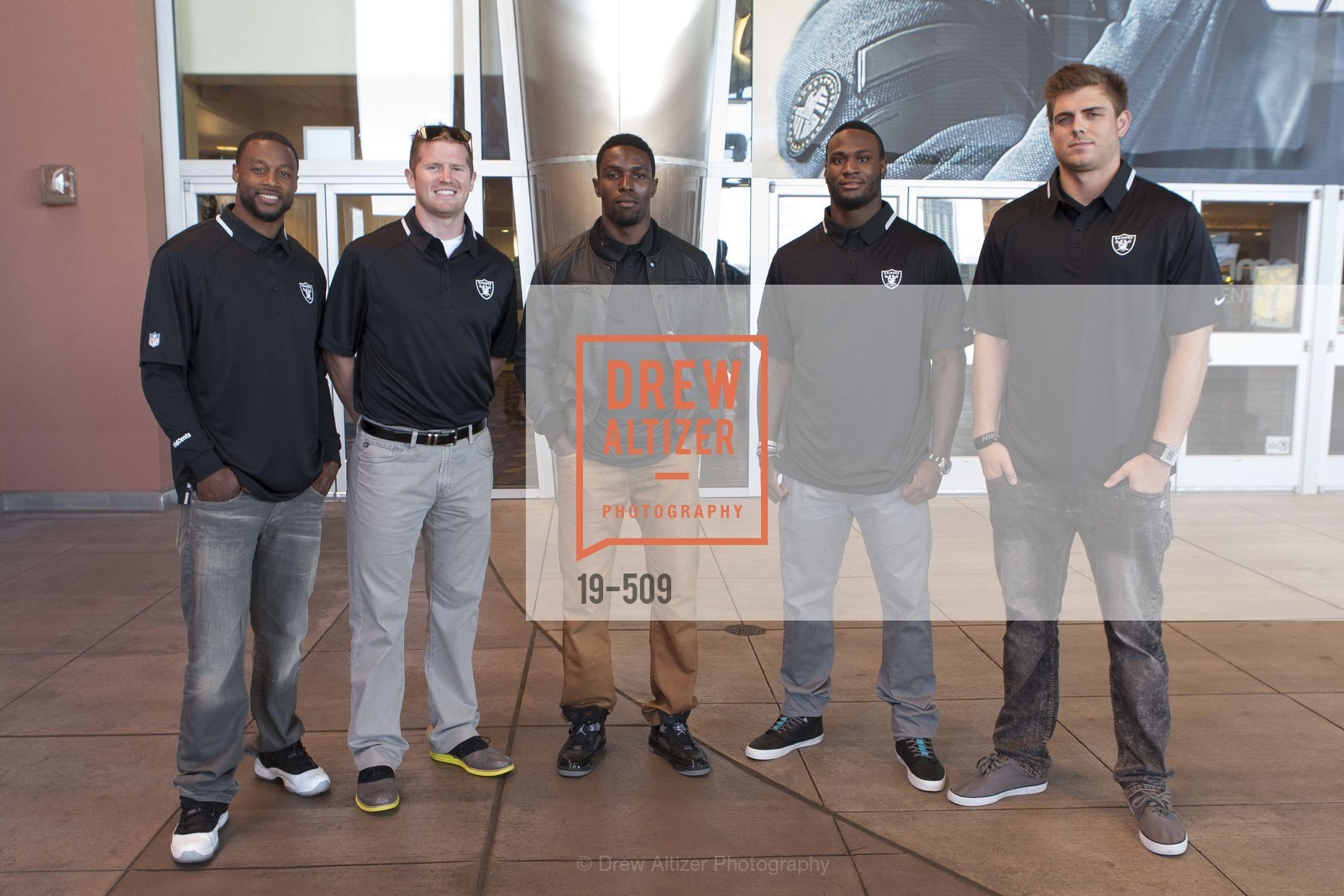 Taiwan Jones, Matthew McGloin, Chimdi Chekwa, Latavius Murray, Nick Kasa, SUMMIT ENTERTAINMENT Presents a Special Screening of DRAFT DAY with the Oakland Raiders, US. AMC 16 Shellmound, Emeryville, Ca, April 9th, 2014,Drew Altizer, Drew Altizer Photography, full-service agency, private events, San Francisco photographer, photographer california