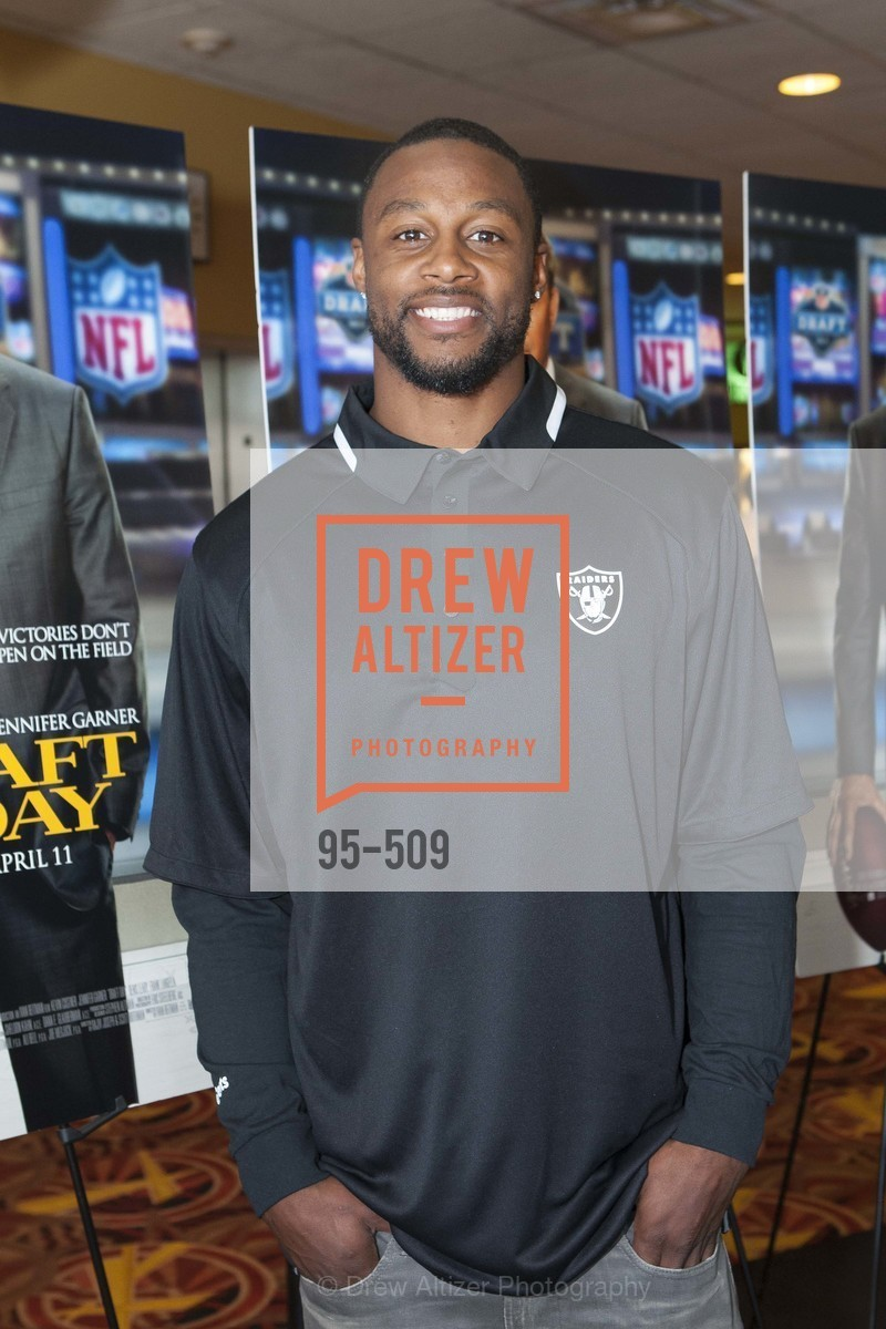 Latavius Murray, SUMMIT ENTERTAINMENT Presents a Special Screening of DRAFT DAY with the Oakland Raiders, US. AMC 16 Shellmound, Emeryville, Ca, April 9th, 2014,Drew Altizer, Drew Altizer Photography, full-service agency, private events, San Francisco photographer, photographer california
