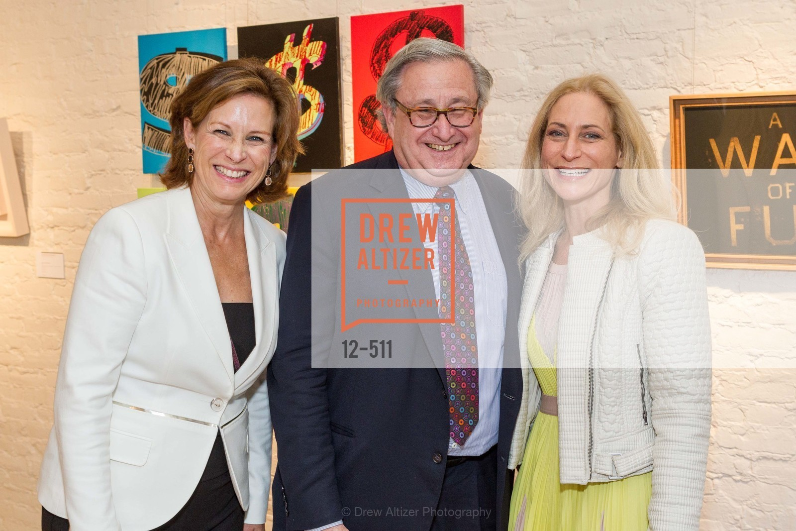 Melissa Draper, Steven Lavine, Joni Binder, CHRISTIE'S Preview to Benefit CalArts School of Art, US. Hedge Gallery 501 Pacific Avenue, April 9th, 2014,Drew Altizer, Drew Altizer Photography, full-service agency, private events, San Francisco photographer, photographer california