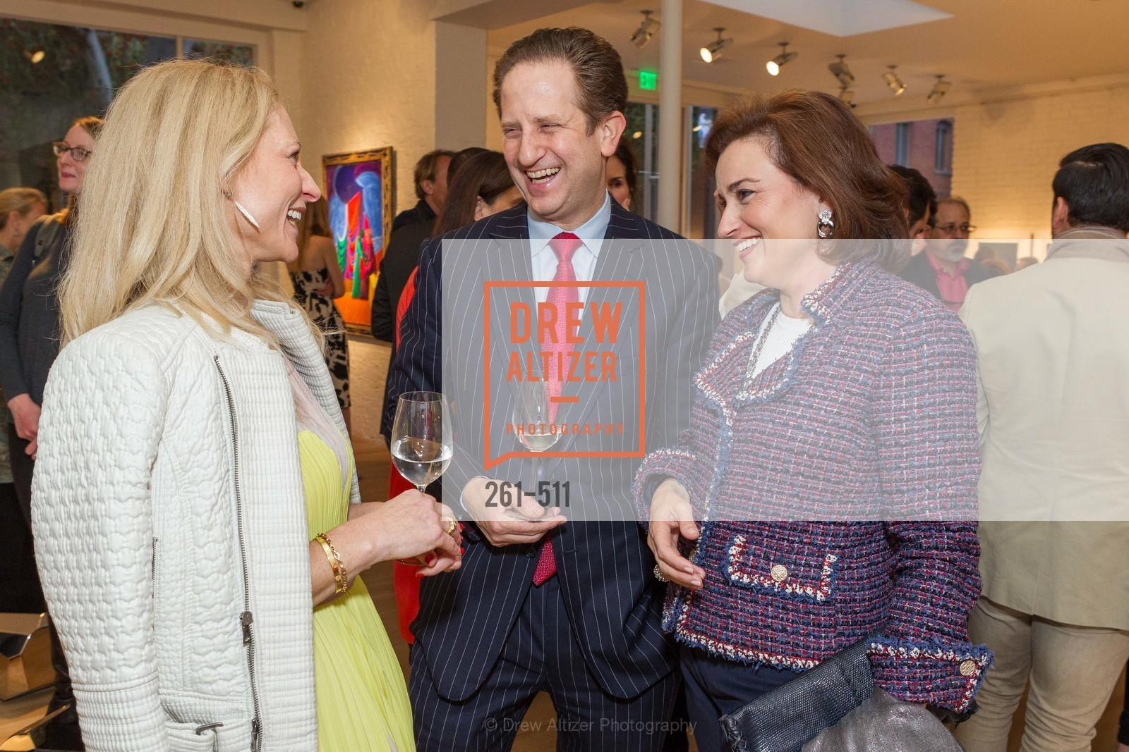 Joni Binder, Robert Shwarts, Dolly Chammas, CHRISTIE'S Preview to Benefit CalArts School of Art, US. Hedge Gallery 501 Pacific Avenue, April 9th, 2014,Drew Altizer, Drew Altizer Photography, full-service event agency, private events, San Francisco photographer, photographer California