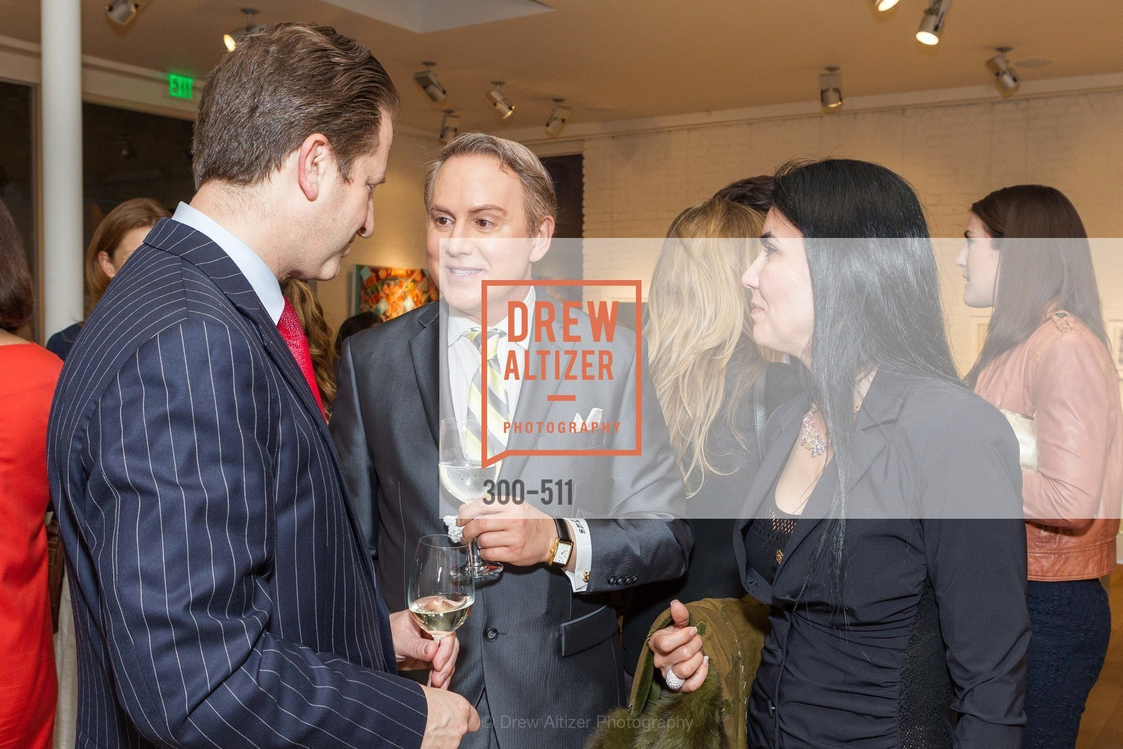 Robert Shwarts, Joel Goodrich, Afsaneh Akhtari, CHRISTIE'S Preview to Benefit CalArts School of Art, US. Hedge Gallery 501 Pacific Avenue, April 9th, 2014,Drew Altizer, Drew Altizer Photography, full-service agency, private events, San Francisco photographer, photographer california