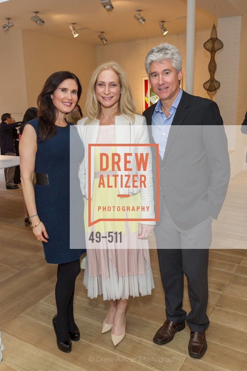 Jamie Lunder, Joni Binder, Marc Lunder, CHRISTIE'S Preview to Benefit CalArts School of Art, US. Hedge Gallery 501 Pacific Avenue, April 9th, 2014,Drew Altizer, Drew Altizer Photography, full-service agency, private events, San Francisco photographer, photographer california