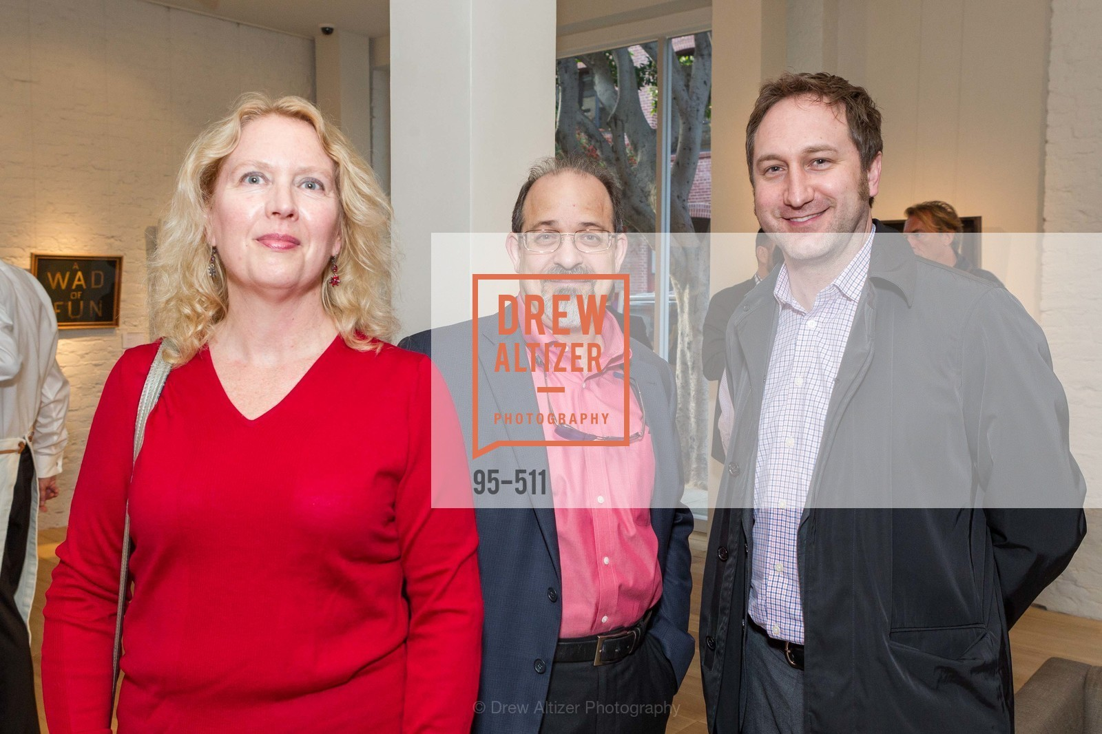 Rhonda Kaufman, Steve Guttmann, Jonathan Laib, CHRISTIE'S Preview to Benefit CalArts School of Art, US. Hedge Gallery 501 Pacific Avenue, April 9th, 2014,Drew Altizer, Drew Altizer Photography, full-service agency, private events, San Francisco photographer, photographer california