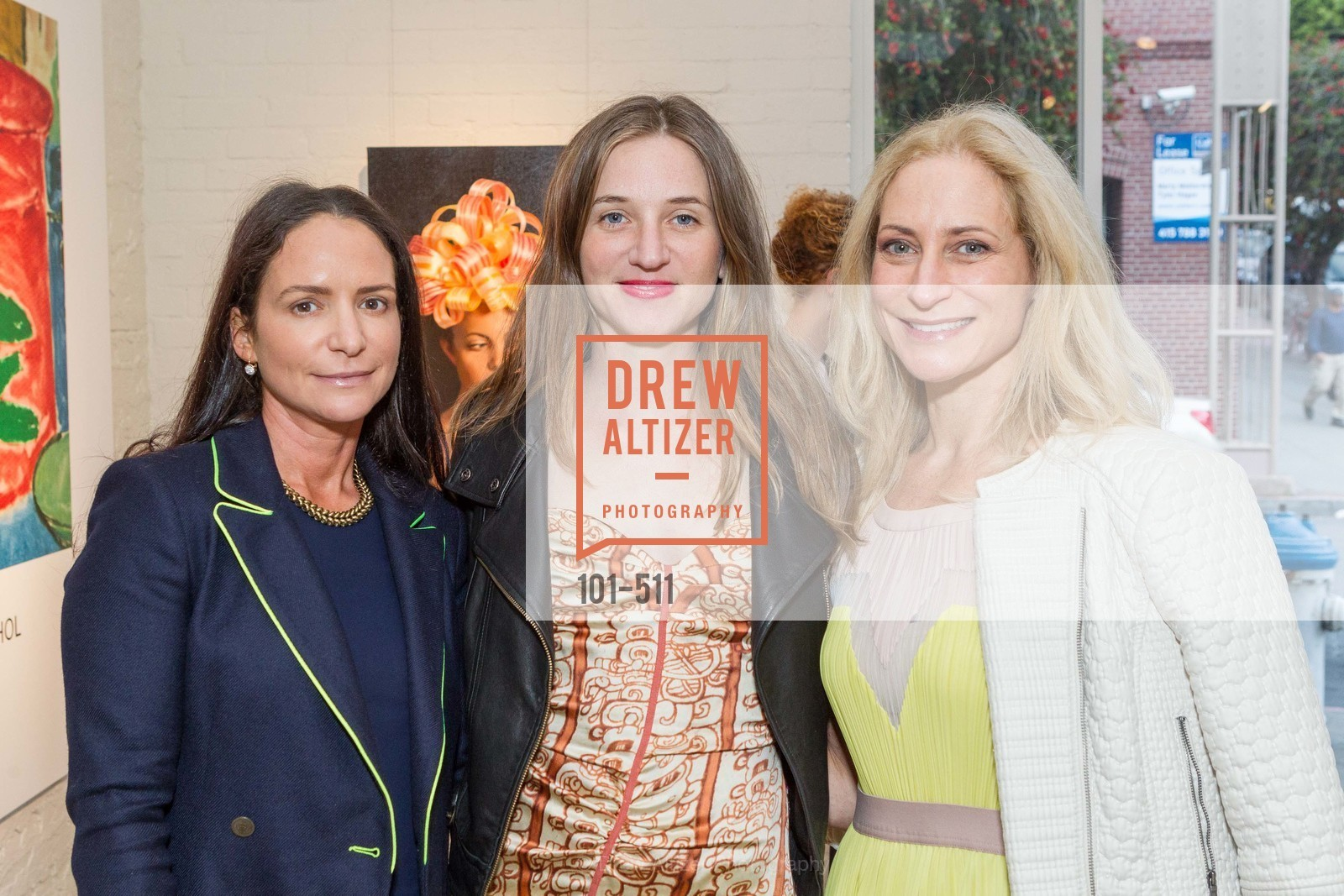 Courtney Dallaire, Aimee Friberg, Joni Binder, CHRISTIE'S Preview to Benefit CalArts School of Art, US. Hedge Gallery 501 Pacific Avenue, April 9th, 2014,Drew Altizer, Drew Altizer Photography, full-service agency, private events, San Francisco photographer, photographer california