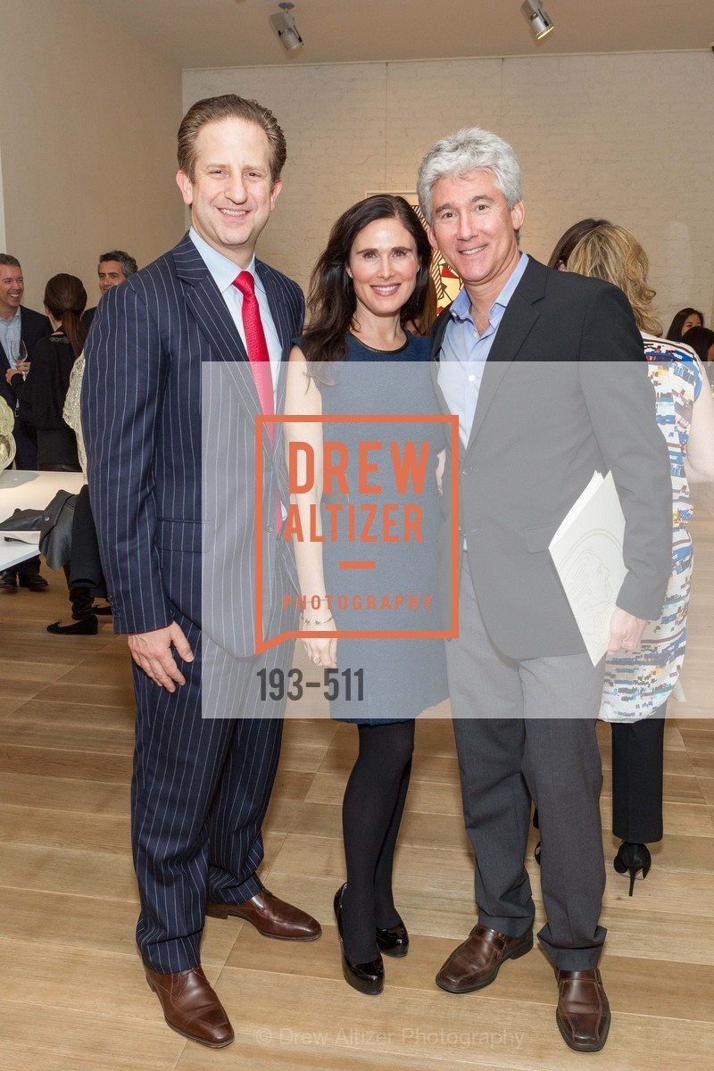Robert Shwarts, Jamie Lunder, Marc Lunder, CHRISTIE'S Preview to Benefit CalArts School of Art, US. Hedge Gallery 501 Pacific Avenue, April 9th, 2014,Drew Altizer, Drew Altizer Photography, full-service agency, private events, San Francisco photographer, photographer california