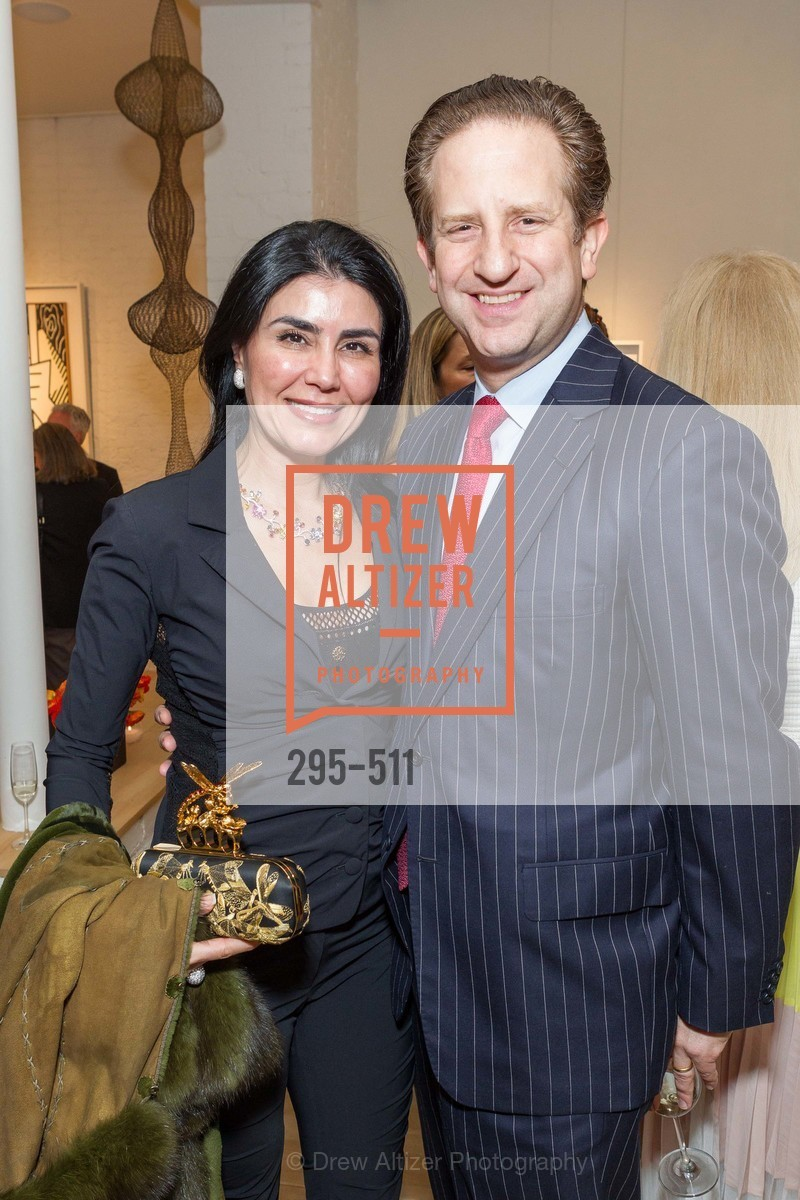 Afsaneh Akhtari, Robert Shwarts, CHRISTIE'S Preview to Benefit CalArts School of Art, US. Hedge Gallery 501 Pacific Avenue, April 9th, 2014,Drew Altizer, Drew Altizer Photography, full-service agency, private events, San Francisco photographer, photographer california