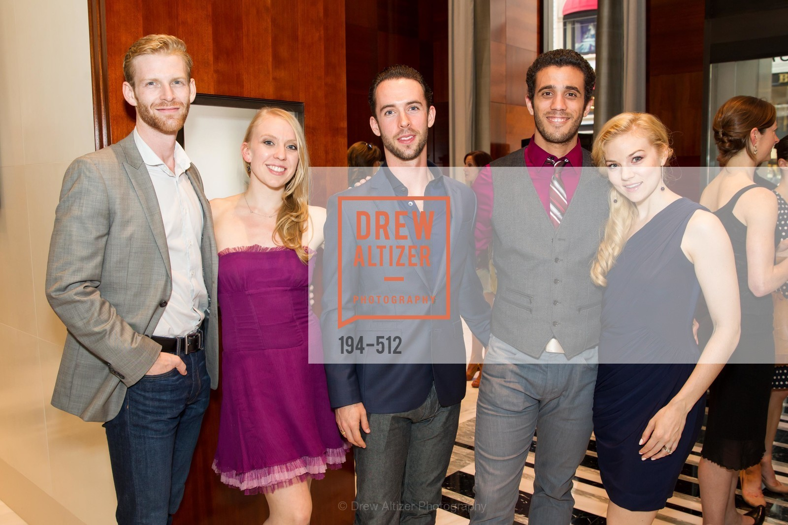 Josh Reynolds, Nicole Haskins, Ben Needham-Wood, Eduardo Permuy, Erica Felsch, GRAFF Celebrates SMUIN BALLET, US. 237 Post Street SF, April 9th, 2014,Drew Altizer, Drew Altizer Photography, full-service agency, private events, San Francisco photographer, photographer california