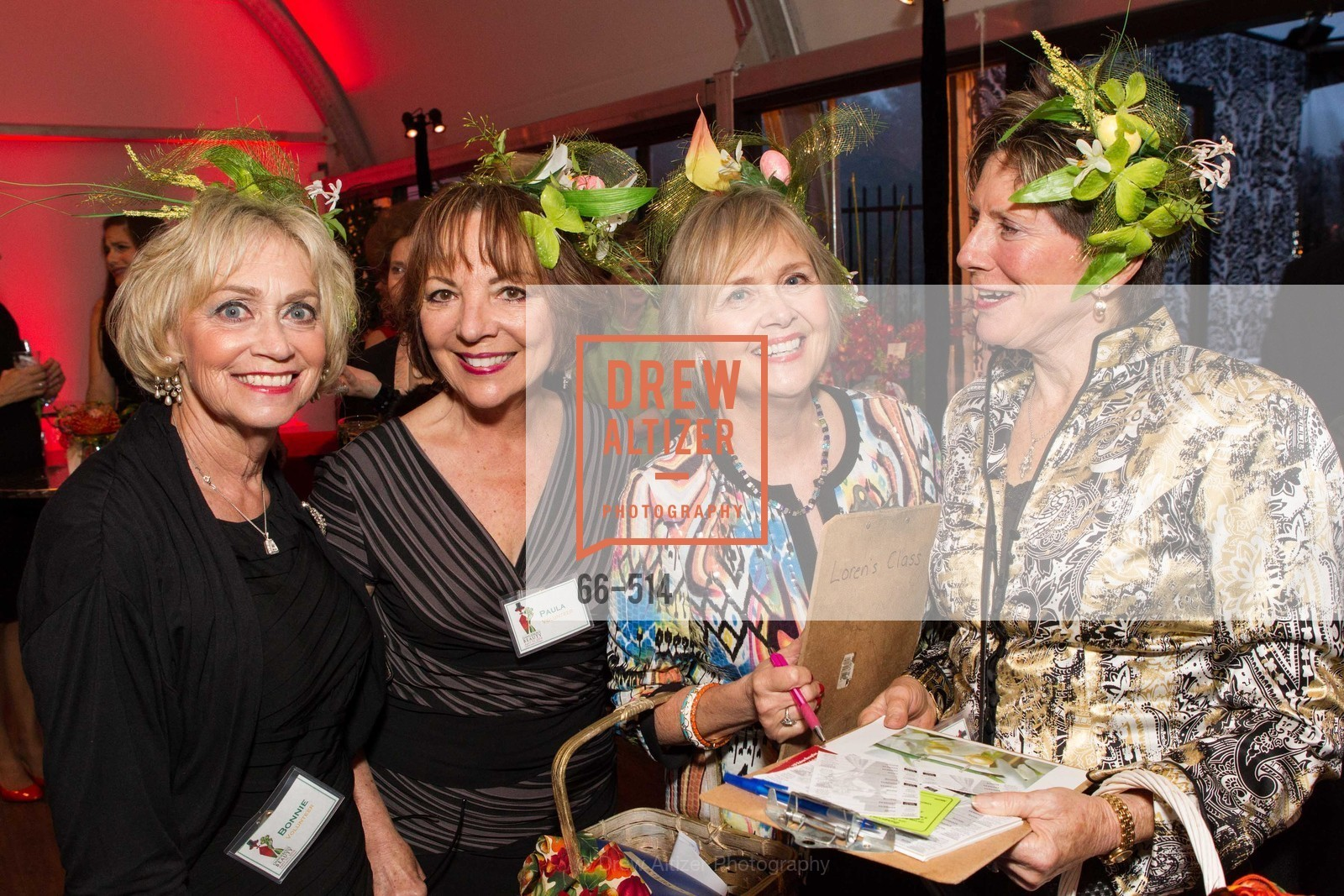Bonnie Sauter, Paula Gross, Janet Bastien, Julie Howell, SF Conservatory of Flowers - CHOMP They came from the swamp, US. US, April 10th, 2014,Drew Altizer, Drew Altizer Photography, full-service event agency, private events, San Francisco photographer, photographer California