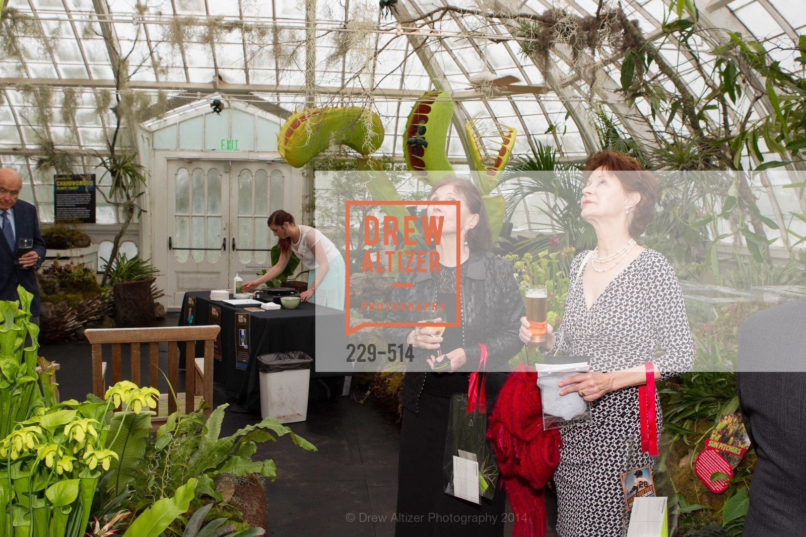 Loraine Fulmer, Maryland Swensen, SF Conservatory of Flowers - CHOMP They came from the swamp, US. US, April 10th, 2014,Drew Altizer, Drew Altizer Photography, full-service event agency, private events, San Francisco photographer, photographer California