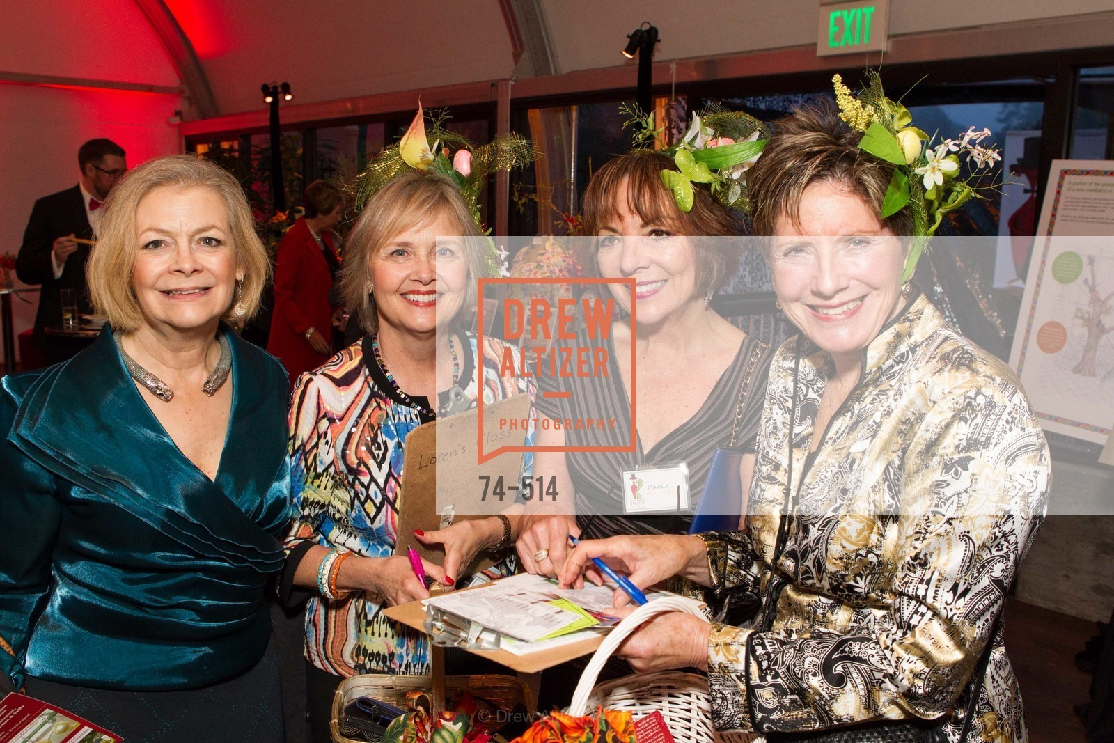 Laine Buckingham, Janet Bastien, Paula Gross, Julie Howell, SF Conservatory of Flowers - CHOMP They came from the swamp, US. US, April 10th, 2014,Drew Altizer, Drew Altizer Photography, full-service agency, private events, San Francisco photographer, photographer california