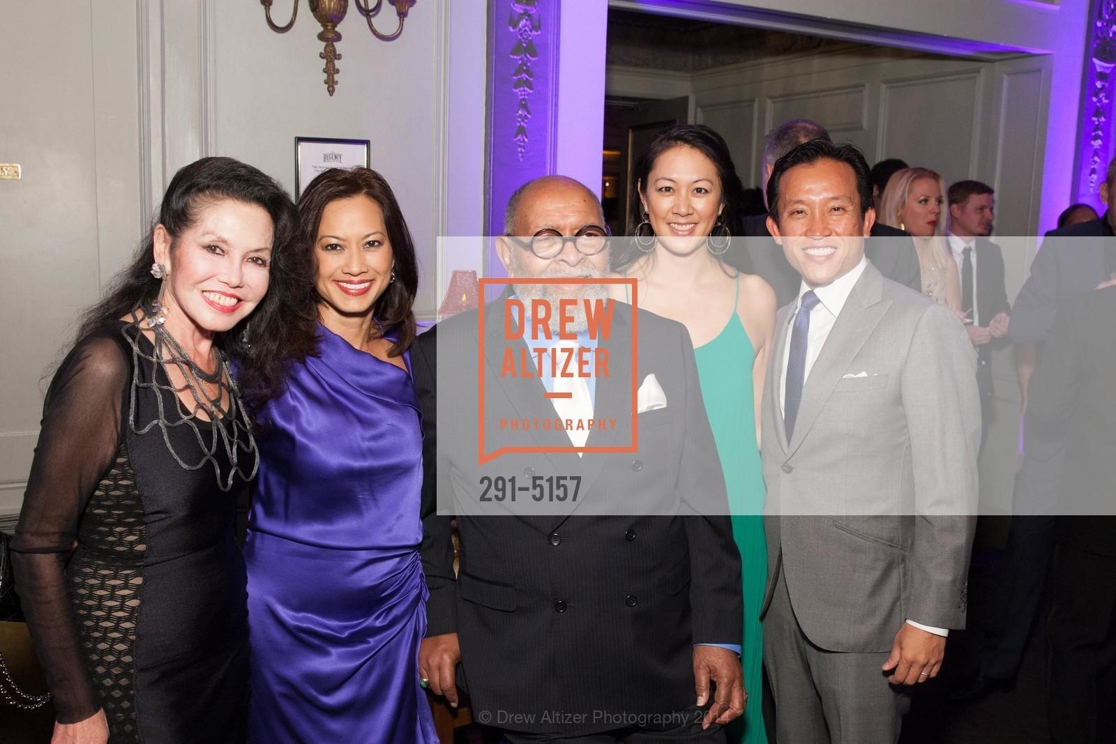 Janice Mirikitani, Thuy Vu, Rev. Cecil Williams, Candace Chen, David Chiu, Photo #291-5157