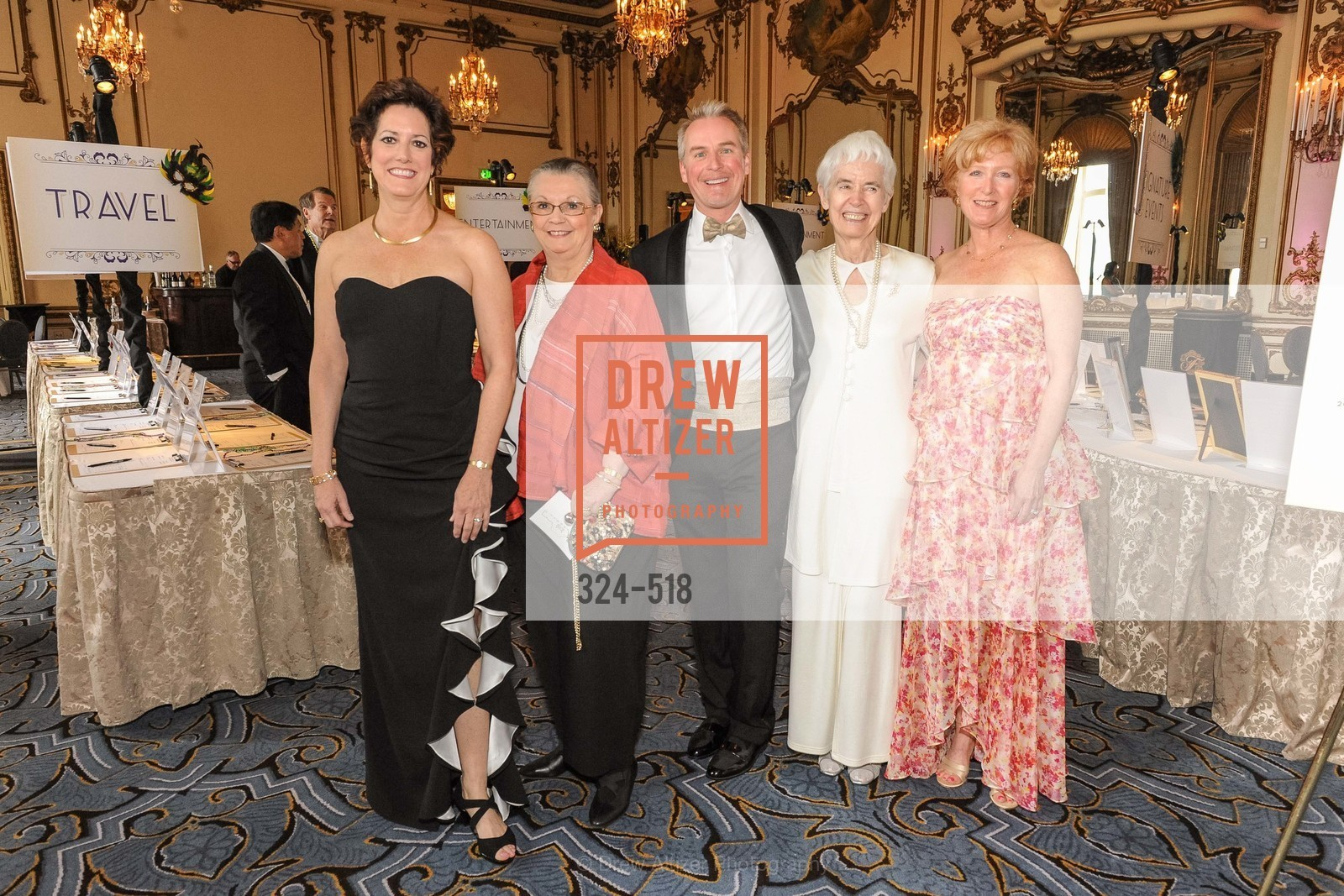 Jean Kellogg, Donna Blacker, Patrick Wilken, Jayne Davis, Carlyn Clause, MEROLA OPERA Spring Benefit 2014:  A Night in New Orleans, US. Fairmont, April 12th, 2014,Drew Altizer, Drew Altizer Photography, full-service agency, private events, San Francisco photographer, photographer california