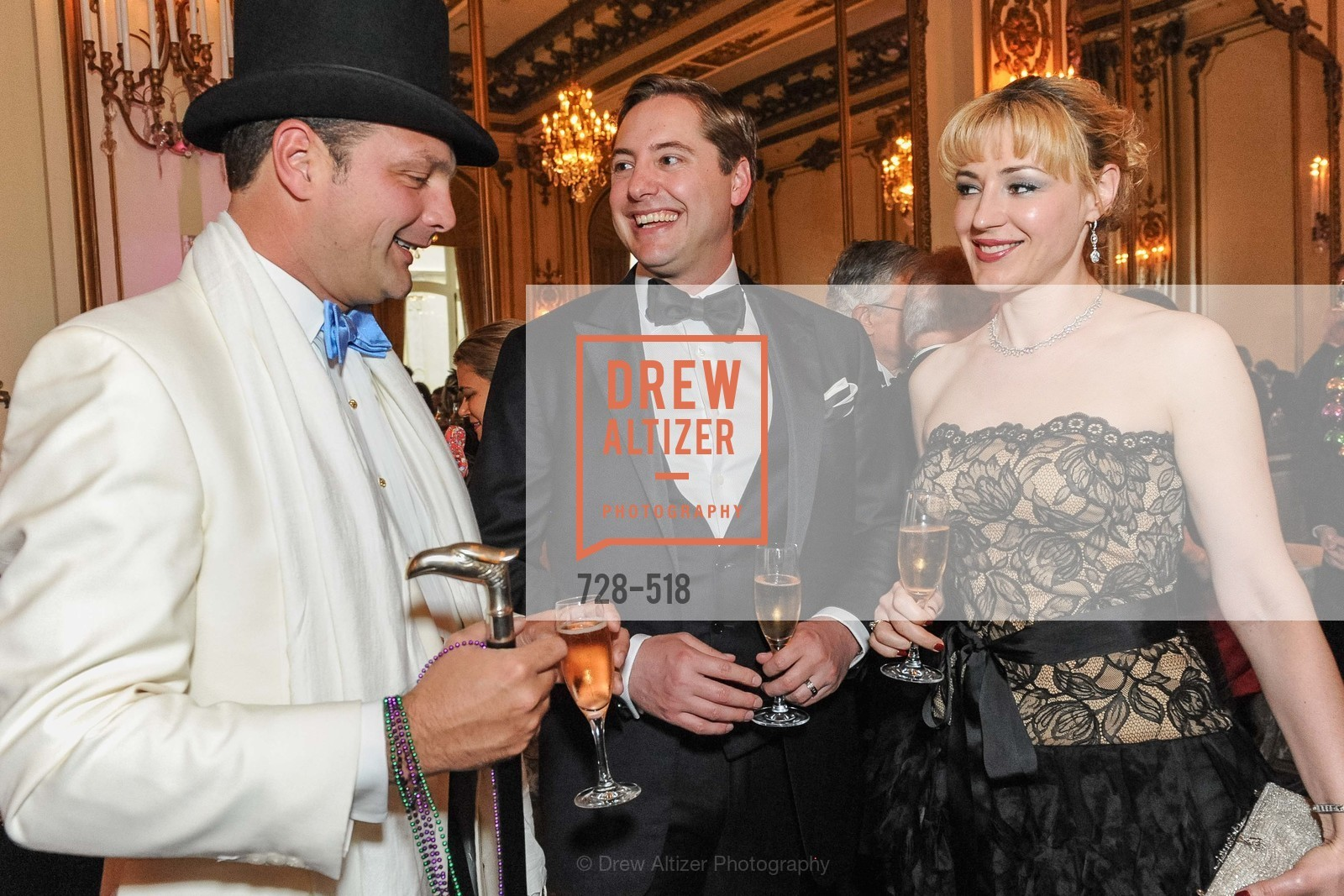 Guillaume Orliac, Brian Gustafson, Liza Gustafson, MEROLA OPERA Spring Benefit 2014:  A Night in New Orleans, US. Fairmont, April 12th, 2014,Drew Altizer, Drew Altizer Photography, full-service agency, private events, San Francisco photographer, photographer california