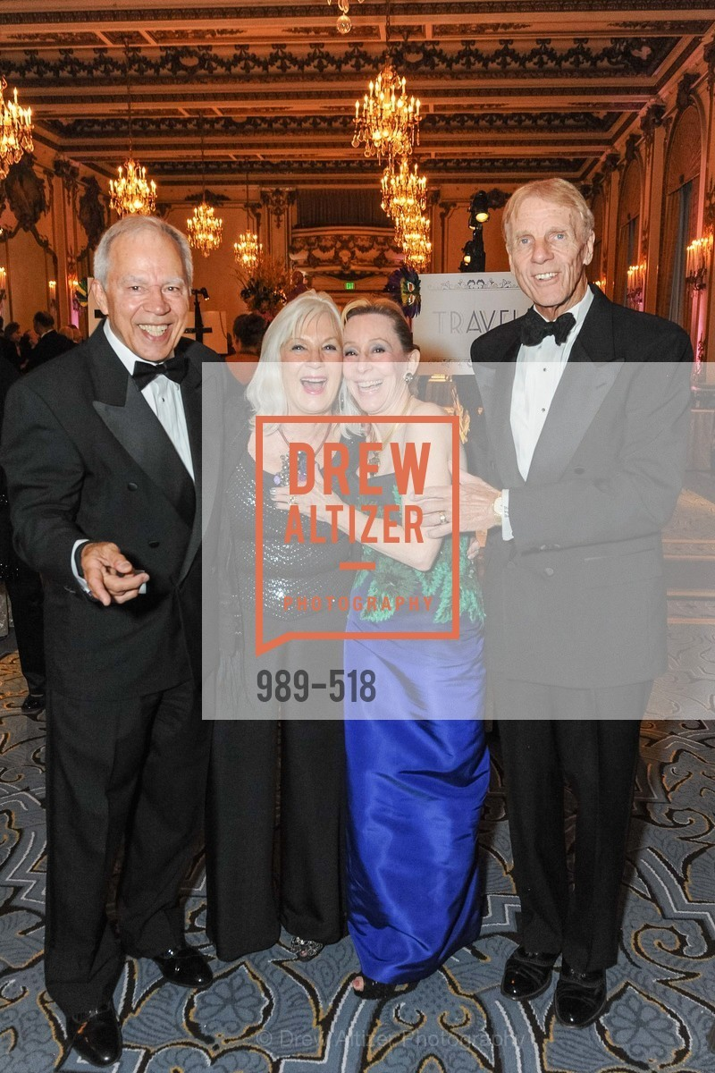 Tom Burkhart, Arlene Inch, Pamela Rigg, Richard Rigg, MEROLA OPERA Spring Benefit 2014:  A Night in New Orleans, US. Fairmont, April 12th, 2014,Drew Altizer, Drew Altizer Photography, full-service agency, private events, San Francisco photographer, photographer california