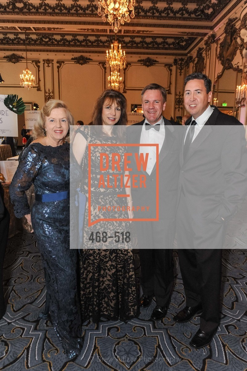 Doris Michael, Karen Ostrach, Stanley Michael, John Churchwell, MEROLA OPERA Spring Benefit 2014:  A Night in New Orleans, US. Fairmont, April 12th, 2014,Drew Altizer, Drew Altizer Photography, full-service agency, private events, San Francisco photographer, photographer california