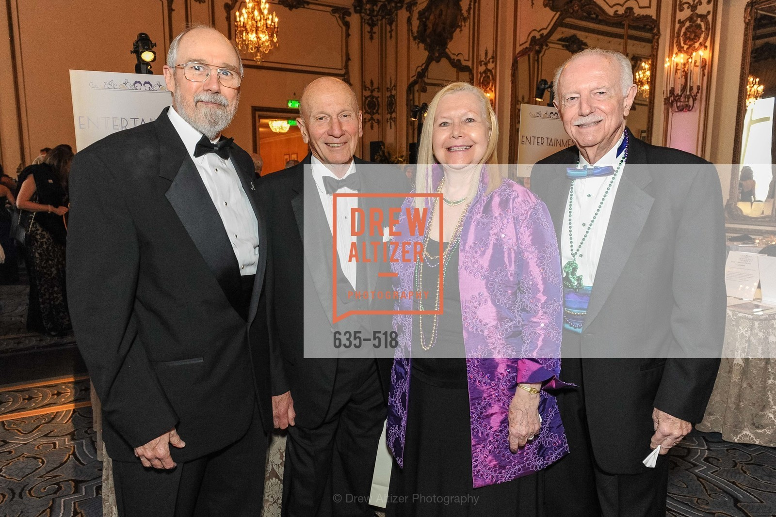 Bob Ryan, Tom Morton, Bernice Lindstrom, John Lindstrom, MEROLA OPERA Spring Benefit 2014:  A Night in New Orleans, US. Fairmont, April 12th, 2014,Drew Altizer, Drew Altizer Photography, full-service agency, private events, San Francisco photographer, photographer california
