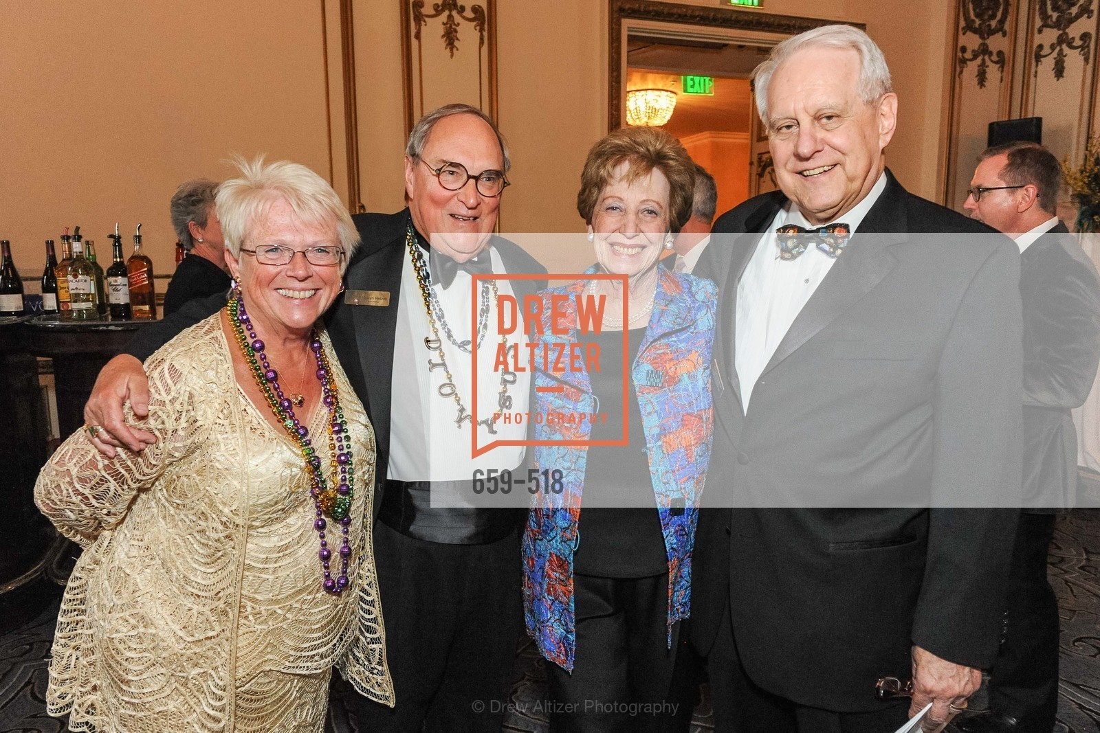 Maureen Hetzel, Melvyn Hetzel, Phyllis Kempner, David Stein, MEROLA OPERA Spring Benefit 2014:  A Night in New Orleans, US. Fairmont, April 12th, 2014,Drew Altizer, Drew Altizer Photography, full-service agency, private events, San Francisco photographer, photographer california