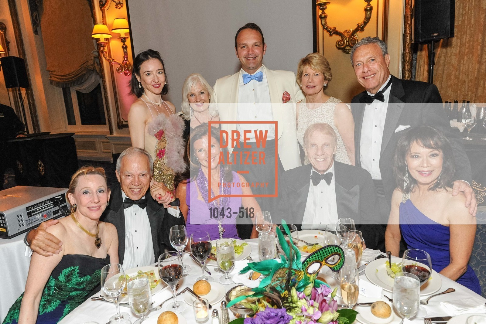 Pamela Rigg, Tom Burkhart, Chandra Rudd, Linda Zider, Arlene Inch, Guillaume Orliac, Carol Burkhart, Richard Rigg, MEROLA OPERA Spring Benefit 2014:  A Night in New Orleans, US. Fairmont, April 12th, 2014,Drew Altizer, Drew Altizer Photography, full-service agency, private events, San Francisco photographer, photographer california