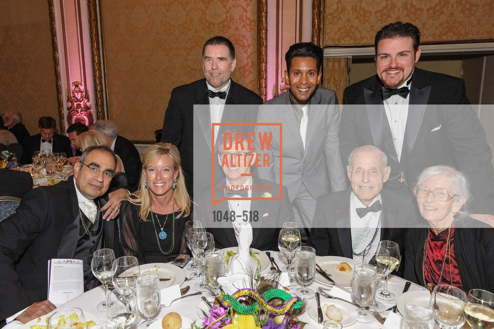 Vinod Mahendroo, Rhonda Mahendroo, Emillio Mesa, Casey Candebot, MEROLA OPERA Spring Benefit 2014:  A Night in New Orleans, US. Fairmont, April 12th, 2014,Drew Altizer, Drew Altizer Photography, full-service agency, private events, San Francisco photographer, photographer california