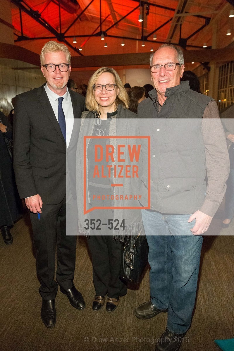 Rich Hillis, Janet Alberti, Fred Schneider, The Forty Part Motet Evening Preview Celebration, Fort Mason Center, Building A. 2 Marina Blvd, November 12th, 2015,Drew Altizer, Drew Altizer Photography, full-service agency, private events, San Francisco photographer, photographer california