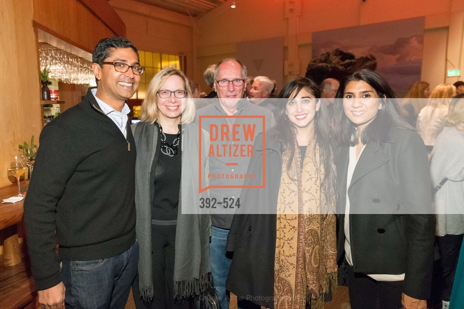 Ravin Agrawal, Janet Alberti, Fred Schneider, Alka Agrawal, The Forty Part Motet Evening Preview Celebration, Fort Mason Center, Building A. 2 Marina Blvd, November 12th, 2015,Drew Altizer, Drew Altizer Photography, full-service agency, private events, San Francisco photographer, photographer california