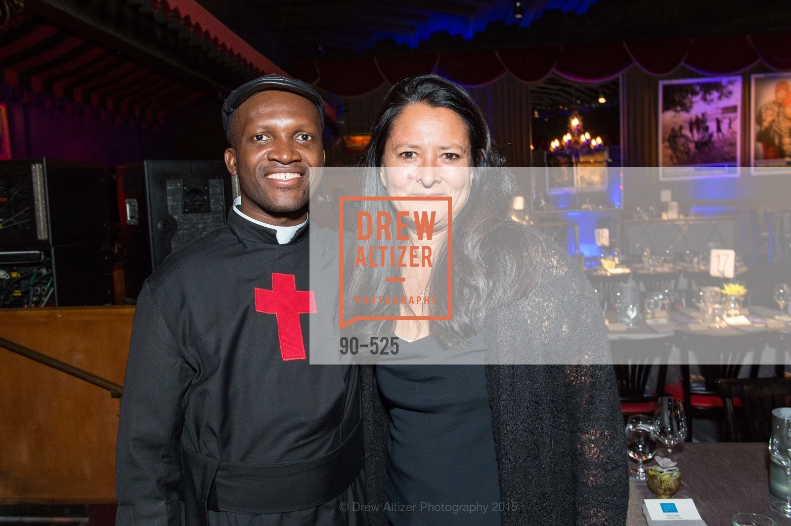 Fr. Bernard Kinvi, Marsha Garces Williams, Human Rights Watch Voices for Justice, Bimbo's. 2525 Van Ness St, November 12th, 2015,Drew Altizer, Drew Altizer Photography, full-service agency, private events, San Francisco photographer, photographer california