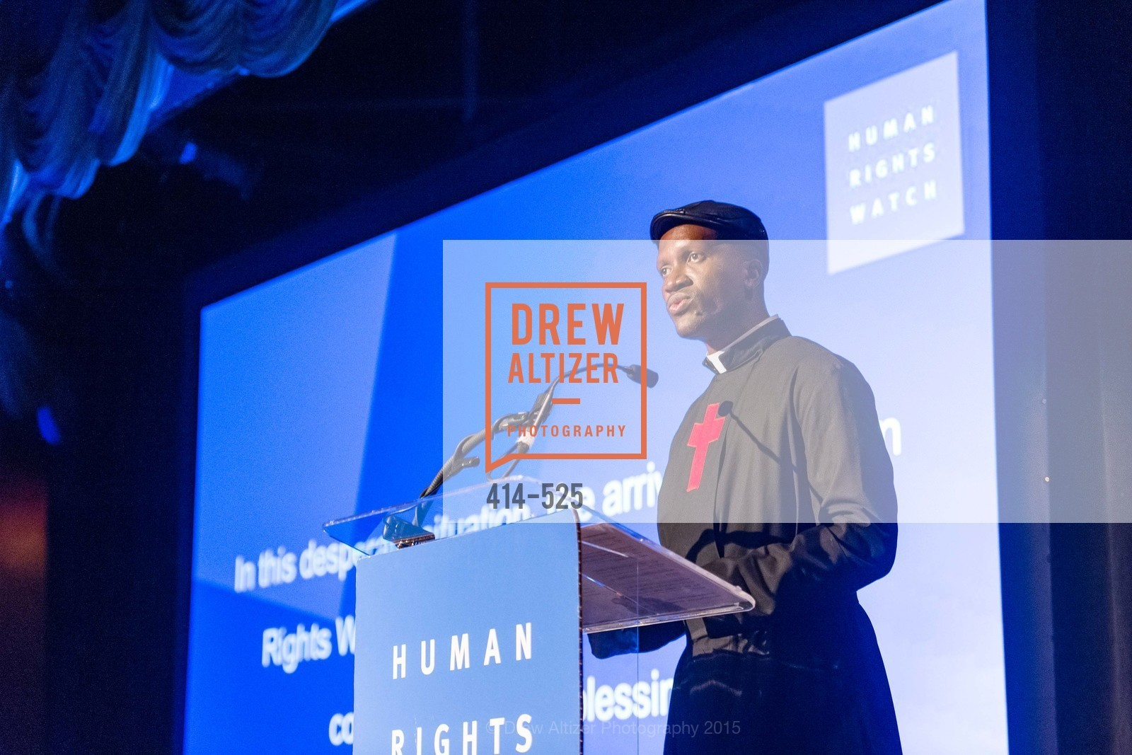 Fr. Bernard Kinvi, Human Rights Watch Voices for Justice, Bimbo's. 2525 Van Ness St, November 12th, 2015,Drew Altizer, Drew Altizer Photography, full-service agency, private events, San Francisco photographer, photographer california