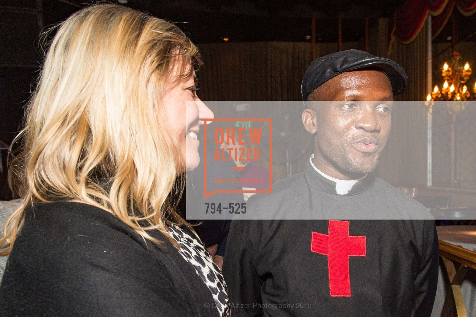 Libby Marsh, Fr. Bernard Kinvi, Human Rights Watch Voices for Justice, Bimbo's. 2525 Van Ness St, November 12th, 2015,Drew Altizer, Drew Altizer Photography, full-service agency, private events, San Francisco photographer, photographer california