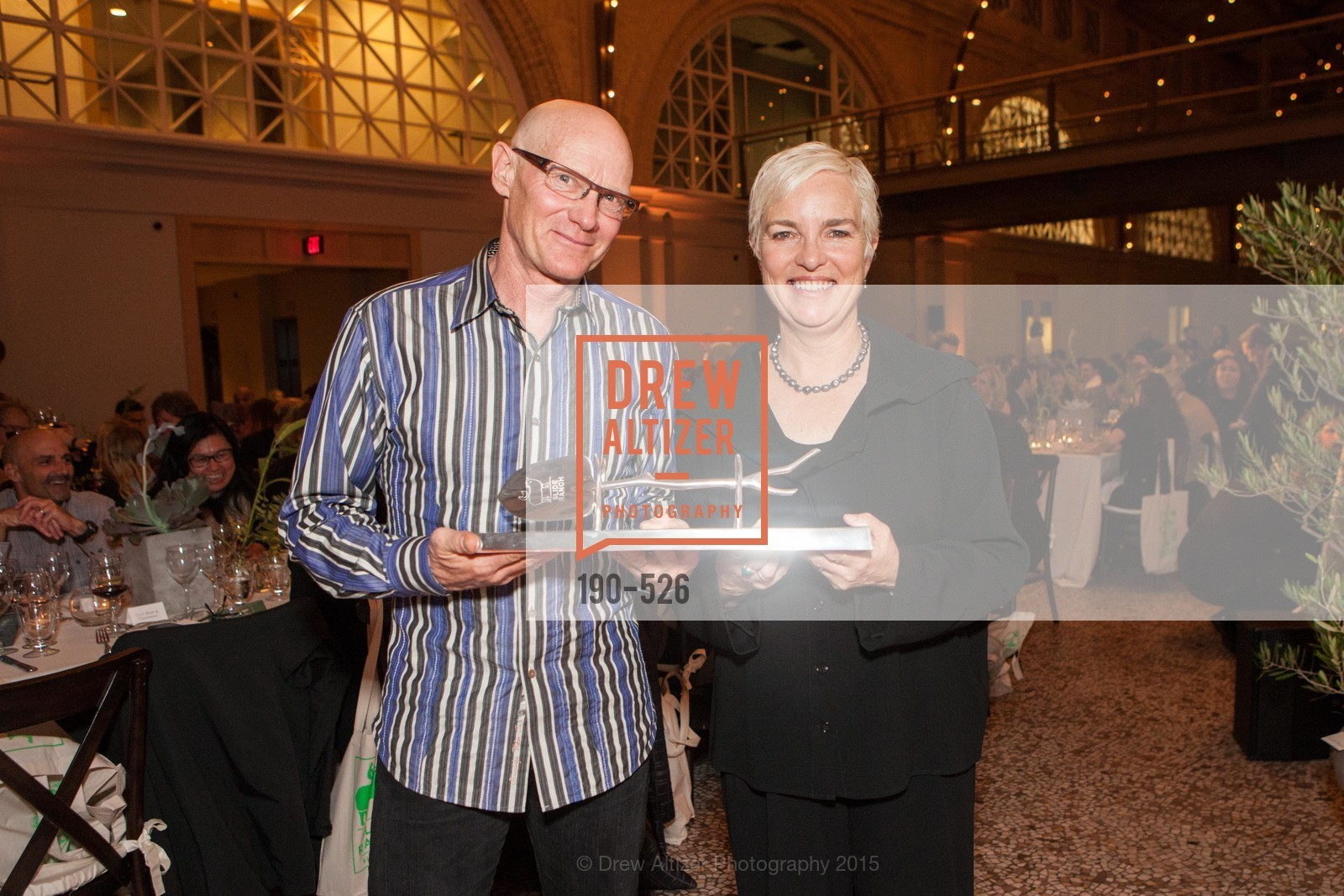 Gary Erickson, Kit Crawford, Slide Ranch Silver Trowel Awards Dinner & Fundraiser, San Francisco Ferry Building. 2525 Van Ness St, November 12th, 2015,Drew Altizer, Drew Altizer Photography, full-service agency, private events, San Francisco photographer, photographer california