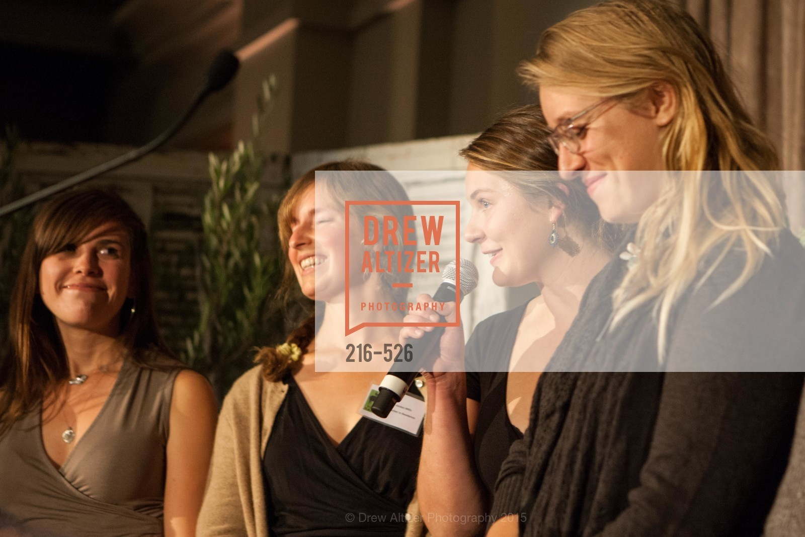 Gabrielle Baird, Jordan Mills, Ali Boochever, Reesha Katcher, Slide Ranch Silver Trowel Awards Dinner & Fundraiser, San Francisco Ferry Building. 2525 Van Ness St, November 12th, 2015,Drew Altizer, Drew Altizer Photography, full-service agency, private events, San Francisco photographer, photographer california