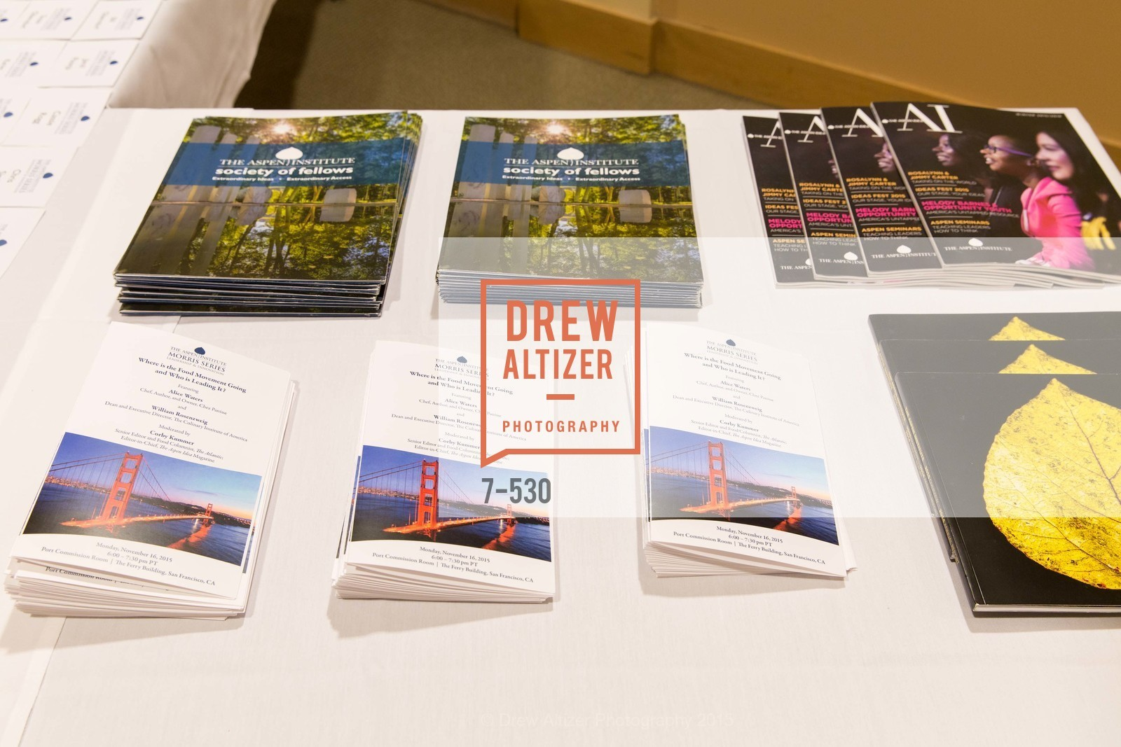 Atmosphere, The Aspen Institute Presents The Morris Series  Featuring Alice Waters, November 16th, 2015, Photo,Drew Altizer, Drew Altizer Photography, full-service agency, private events, San Francisco photographer, photographer california
