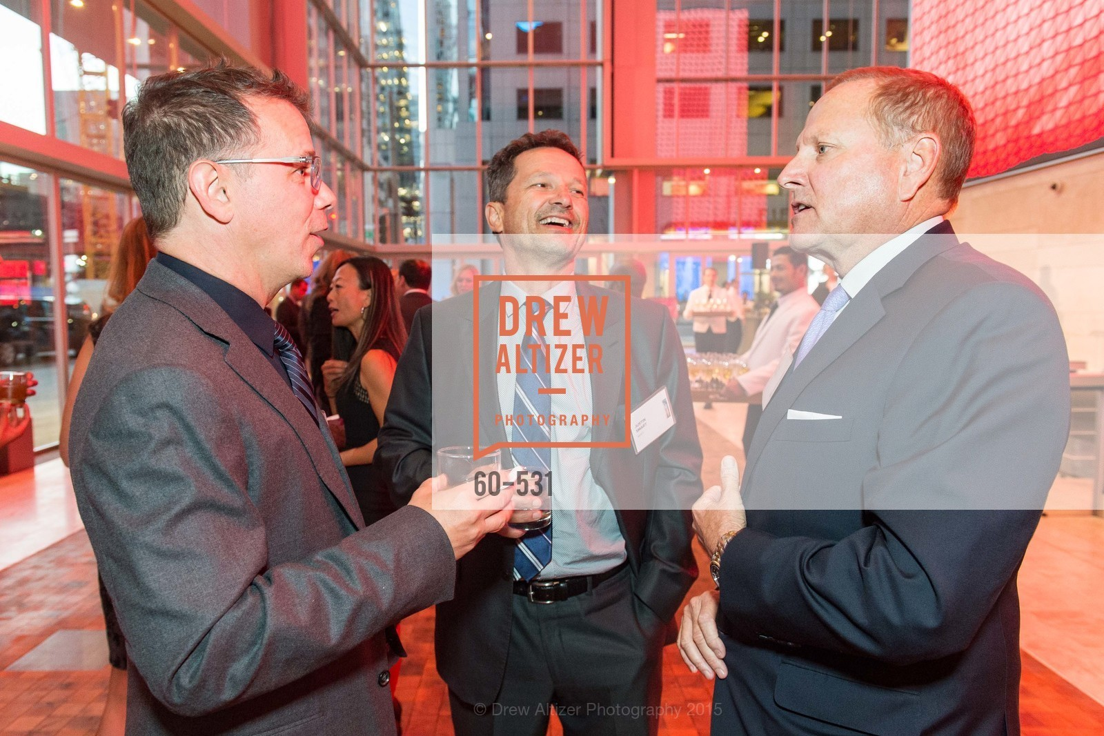 Douglas Giesey, Justin Smart, Rob Paratte, Kilroy Unveiling Presents Virtual Depictions: San Francisco by Refik Anadol, 350 Mission Street. 350 Mission Street, November 16th, 2015,Drew Altizer, Drew Altizer Photography, full-service event agency, private events, San Francisco photographer, photographer California