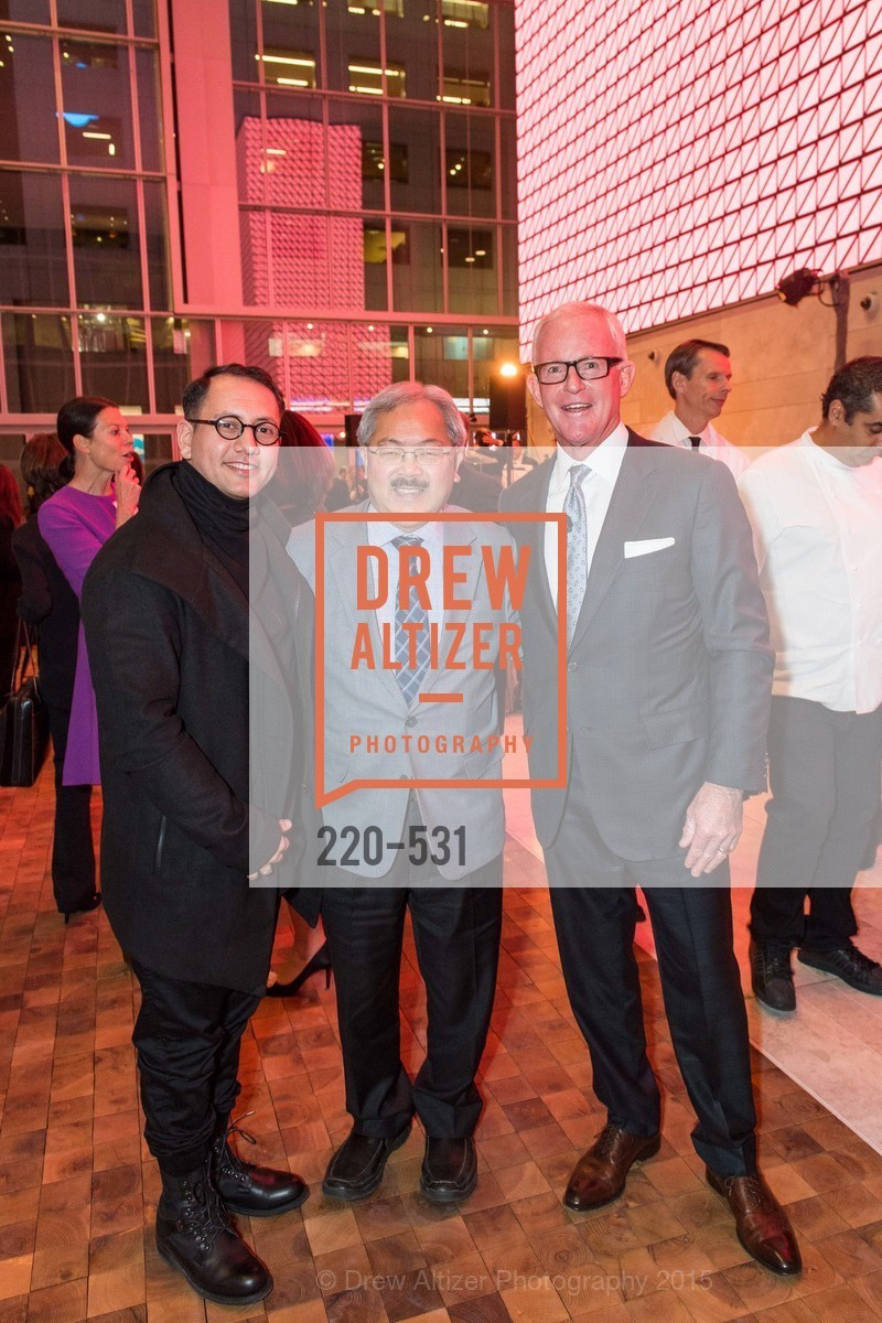 Refik Anadol, Ed Lee, John Kilroy, Kilroy Unveiling Presents Virtual Depictions: San Francisco by Refik Anadol, 350 Mission Street. 350 Mission Street, November 16th, 2015,Drew Altizer, Drew Altizer Photography, full-service agency, private events, San Francisco photographer, photographer california